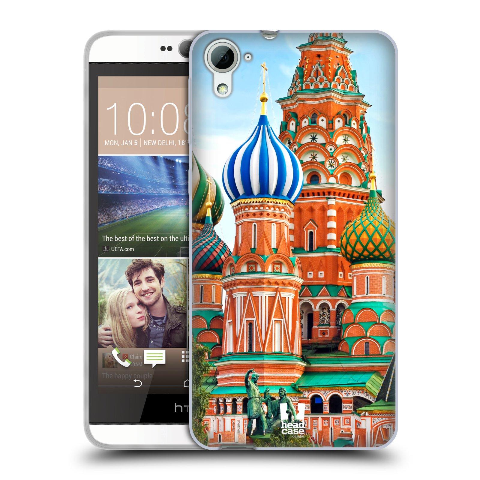 HEAD CASE silikonový obal na mobil HTC DESIRE 826 vzor Města foto náměstí RUSKO,MOSKVA, RUDÉ NÁMĚSTÍ