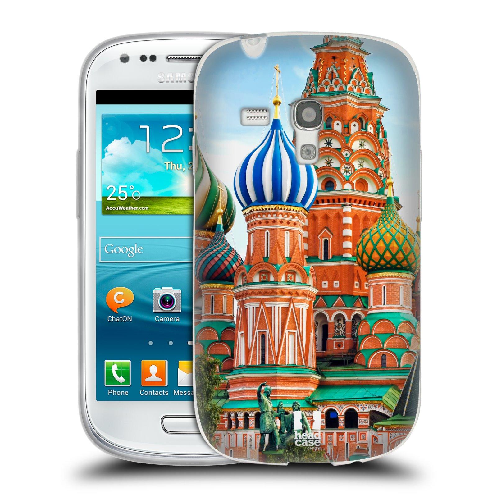 HEAD CASE silikonový obal na mobil Samsung Galaxy S3 MINI i8190 vzor Města foto náměstí RUSKO,MOSKVA, RUDÉ NÁMĚSTÍ