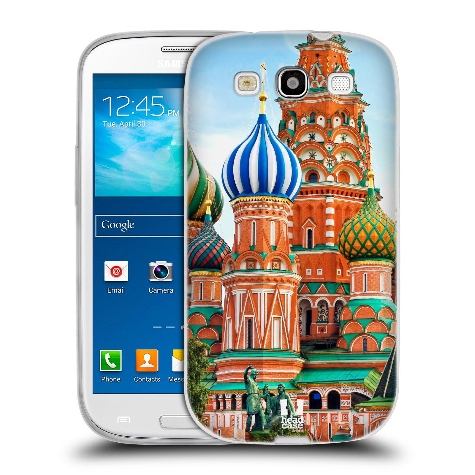 HEAD CASE silikonový obal na mobil Samsung Galaxy S3 i9300 vzor Města foto náměstí RUSKO,MOSKVA, RUDÉ NÁMĚSTÍ