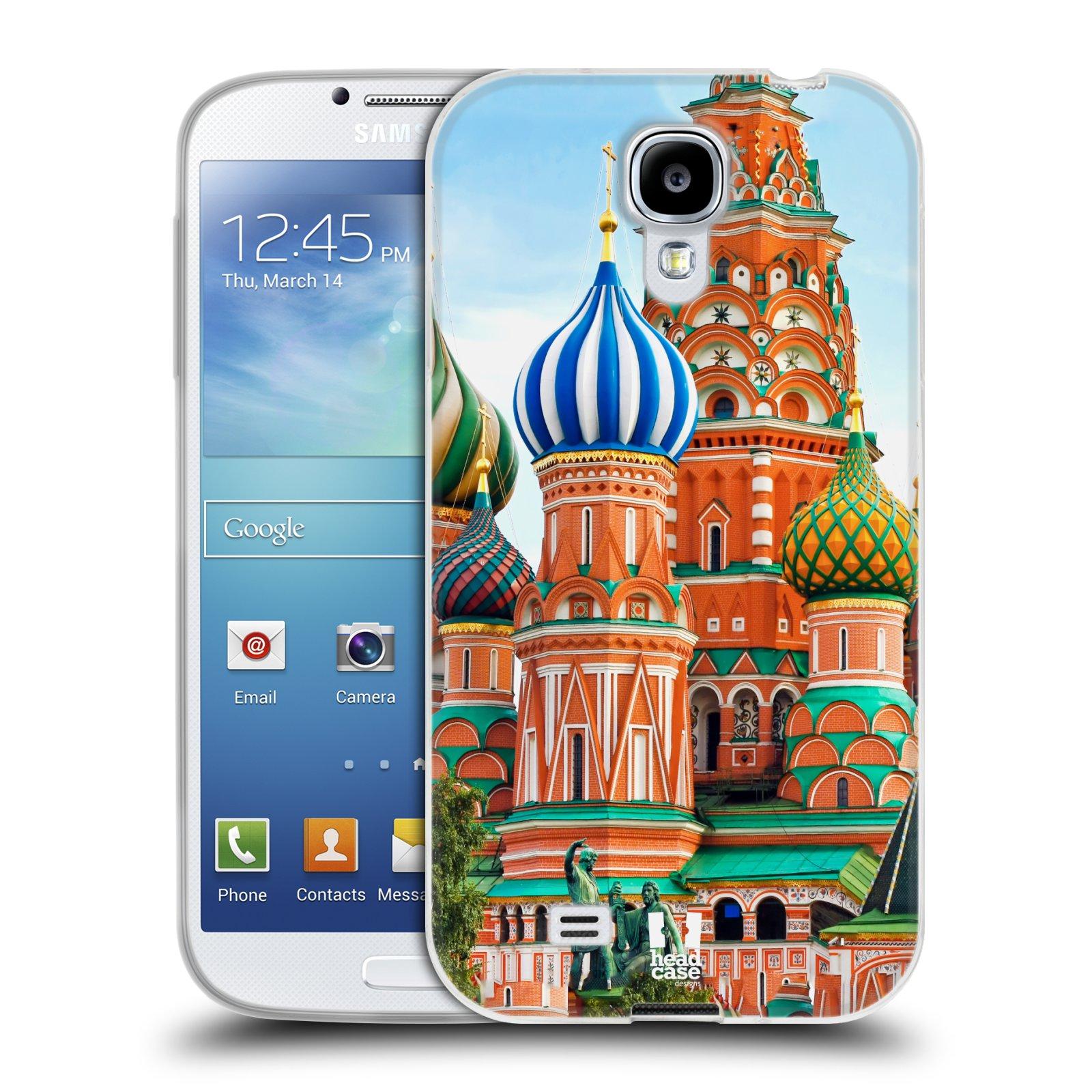 HEAD CASE silikonový obal na mobil Samsung Galaxy S4 i9500 vzor Města foto náměstí RUSKO,MOSKVA, RUDÉ NÁMĚSTÍ