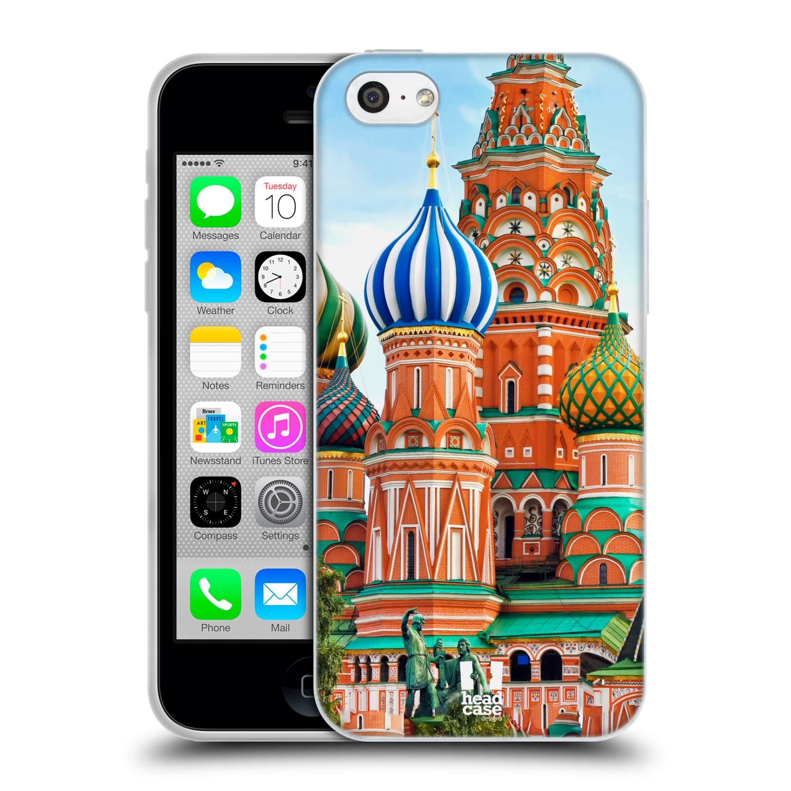 HEAD CASE silikonový obal na mobil Apple Iphone 5C vzor Města foto náměstí RUSKO,MOSKVA, RUDÉ NÁMĚSTÍ