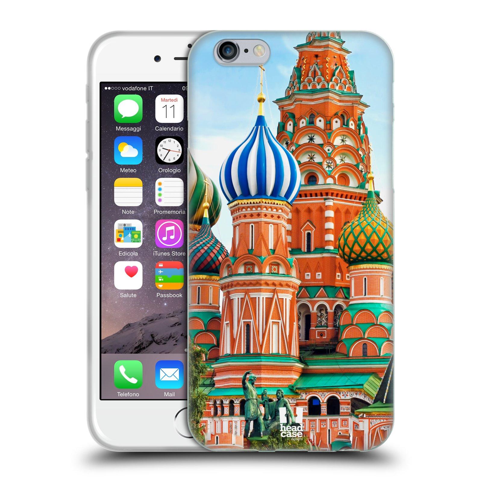 HEAD CASE silikonový obal na mobil Apple Iphone 6 6S vzor Města foto  náměstí RUSKO 4f12d50338e