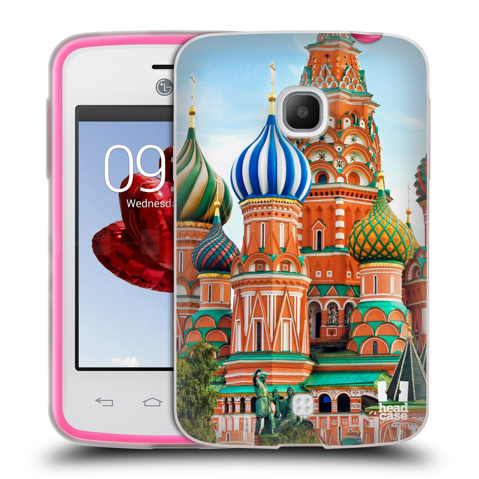 HEAD CASE silikonový obal na mobil LG L30 vzor Města foto náměstí RUSKO,MOSKVA, RUDÉ NÁMĚSTÍ