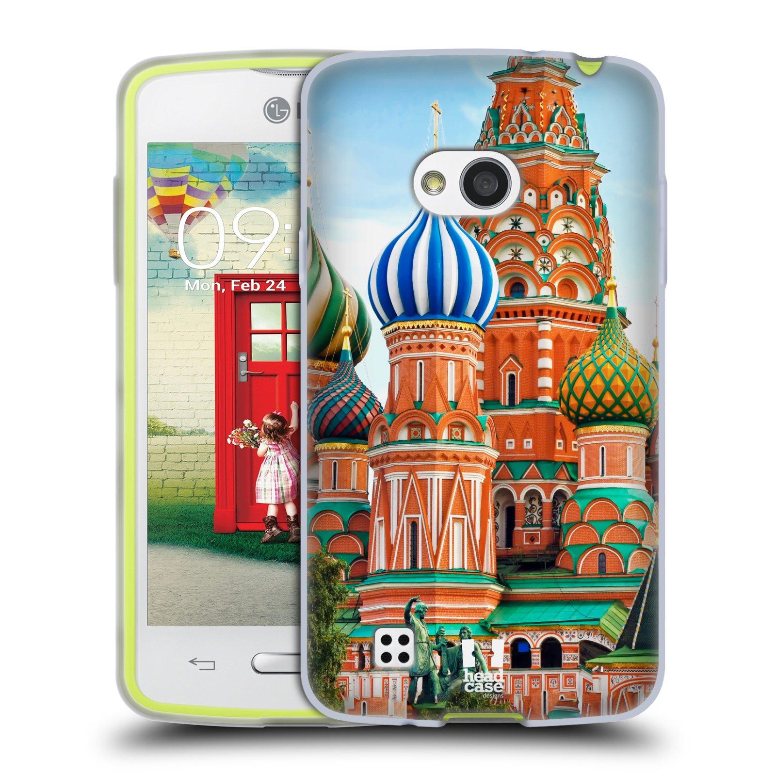 HEAD CASE silikonový obal na mobil LG L50 vzor Města foto náměstí RUSKO,MOSKVA, RUDÉ NÁMĚSTÍ
