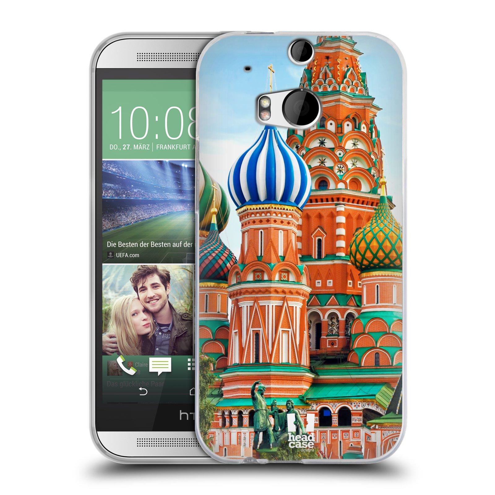 HEAD CASE silikonový obal na mobil HTC ONE (M8) vzor Města foto náměstí RUSKO,MOSKVA, RUDÉ NÁMĚSTÍ