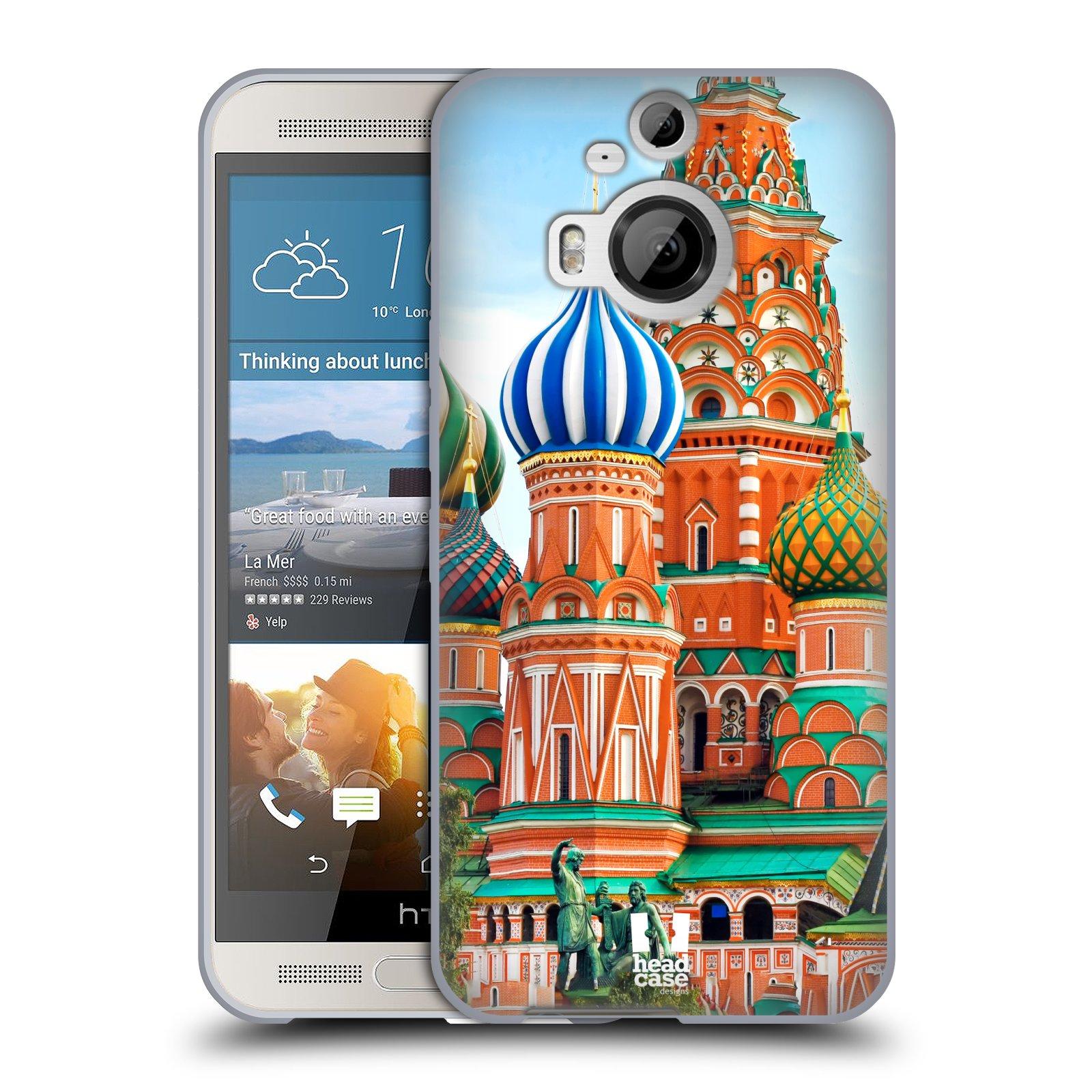 HEAD CASE silikonový obal na mobil HTC ONE M9+(PLUS) vzor Města foto náměstí RUSKO,MOSKVA, RUDÉ NÁMĚSTÍ