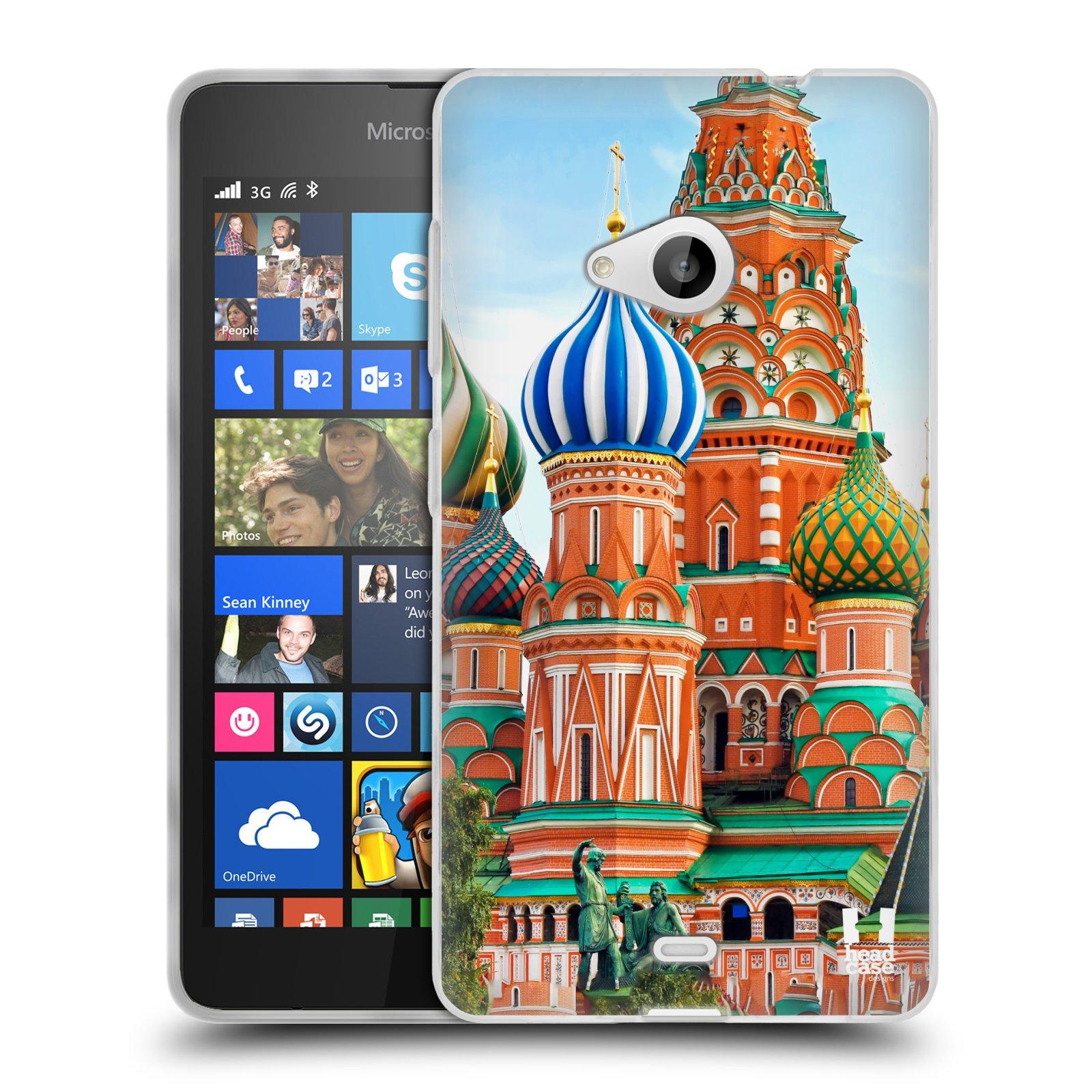 HEAD CASE silikonový obal na mobil Microsoft Lumia 535 / Lumia 535 DUAL vzor Města foto náměstí RUSKO,MOSKVA, RUDÉ NÁMĚSTÍ