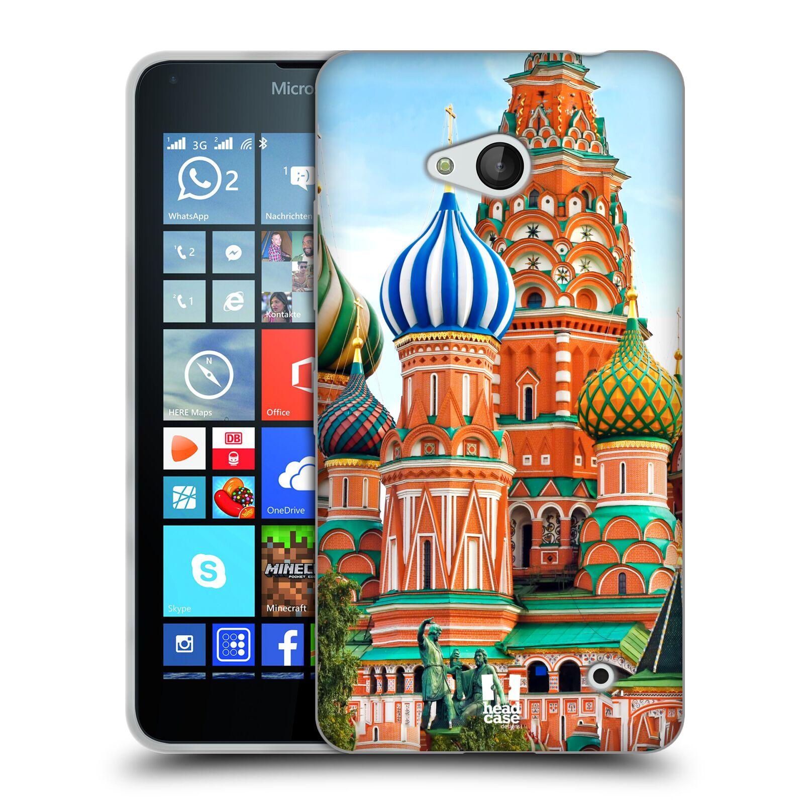 HEAD CASE silikonový obal na mobil Microsoft / Nokia Lumia 640 / Lumia 640 DUAL vzor Města foto náměstí RUSKO,MOSKVA, RUDÉ NÁMĚSTÍ