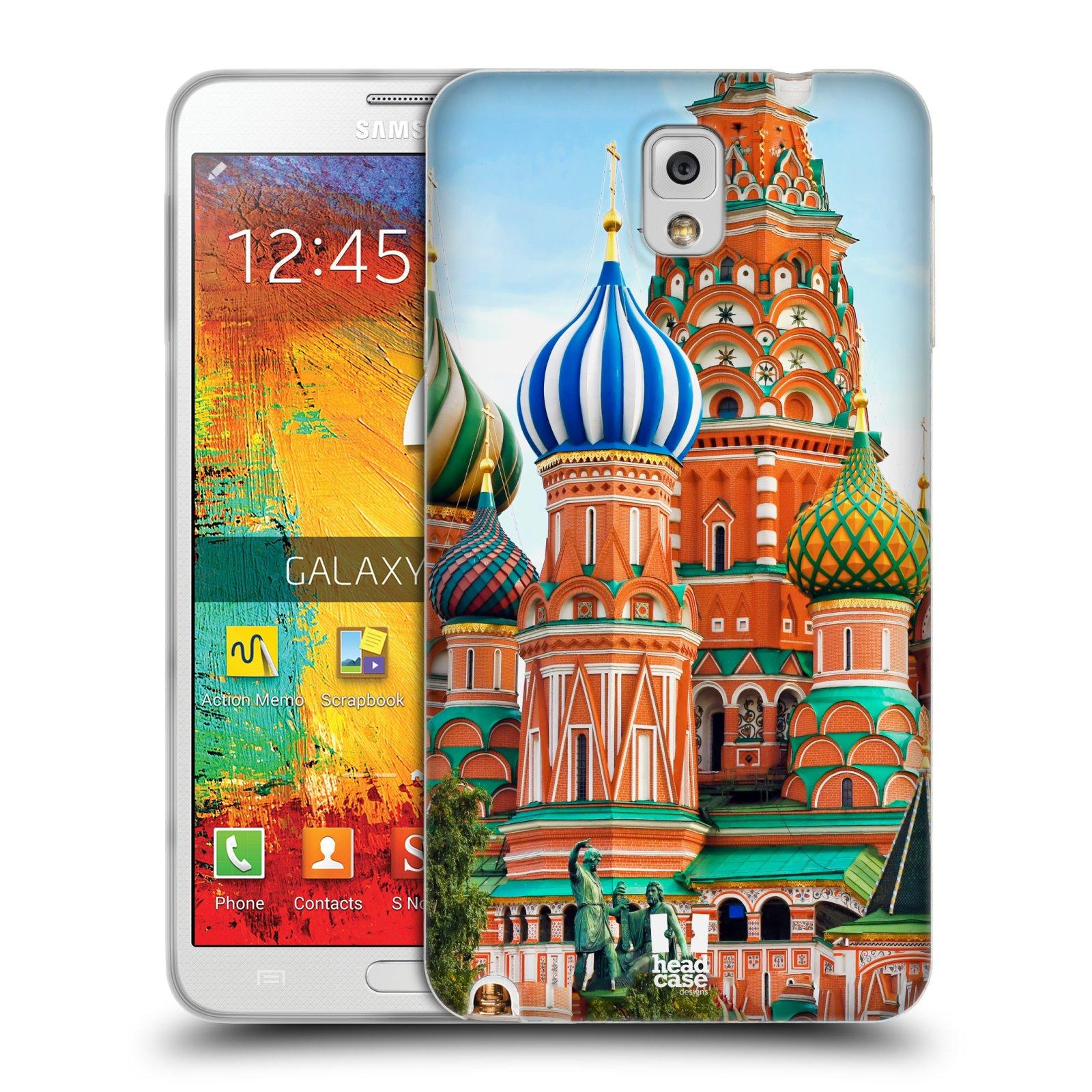 HEAD CASE silikonový obal na mobil Samsung Galaxy Note 3 (N9005) vzor Města foto náměstí RUSKO,MOSKVA, RUDÉ NÁMĚSTÍ