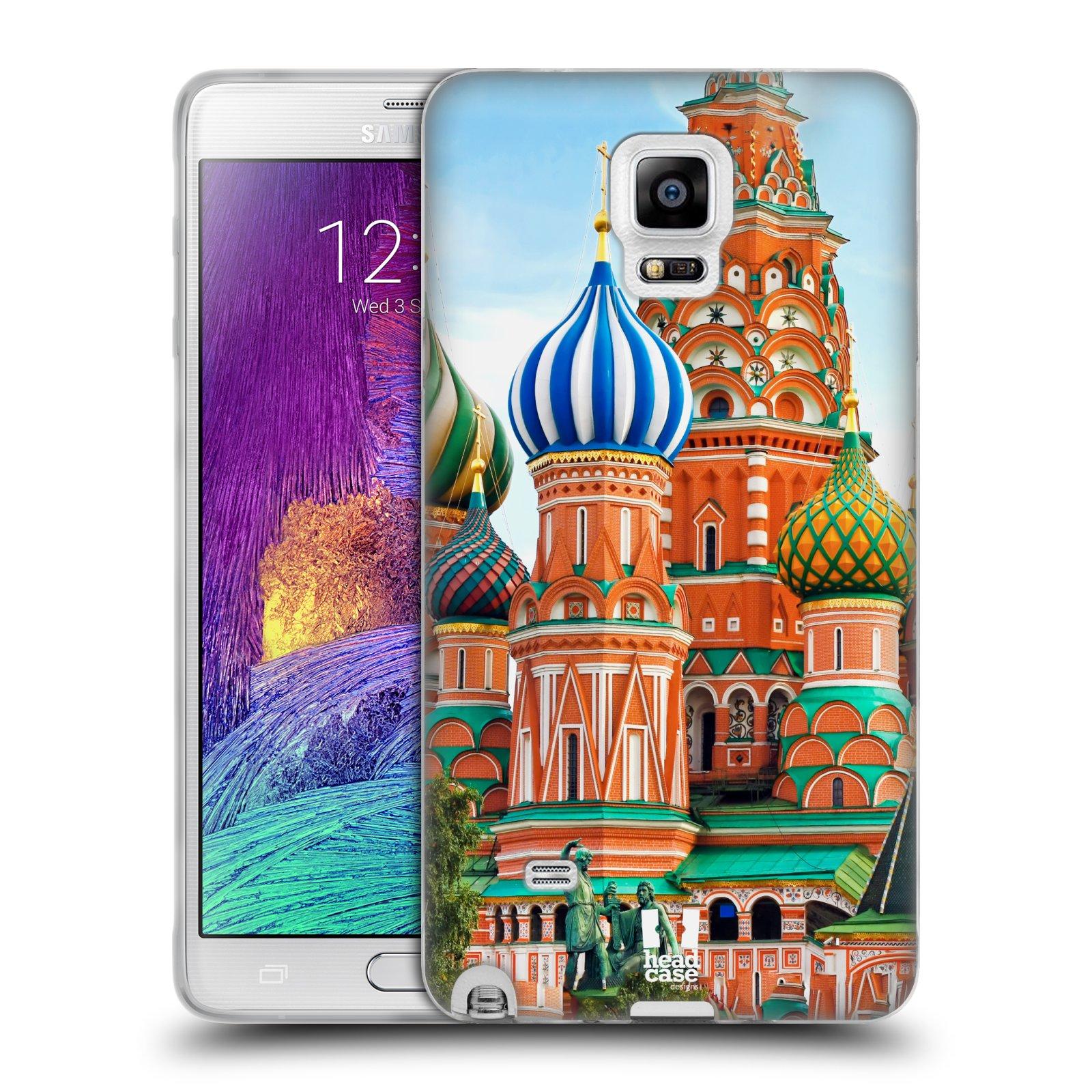 HEAD CASE silikonový obal na mobil Samsung Galaxy Note 4 (N910) vzor Města foto náměstí RUSKO,MOSKVA, RUDÉ NÁMĚSTÍ