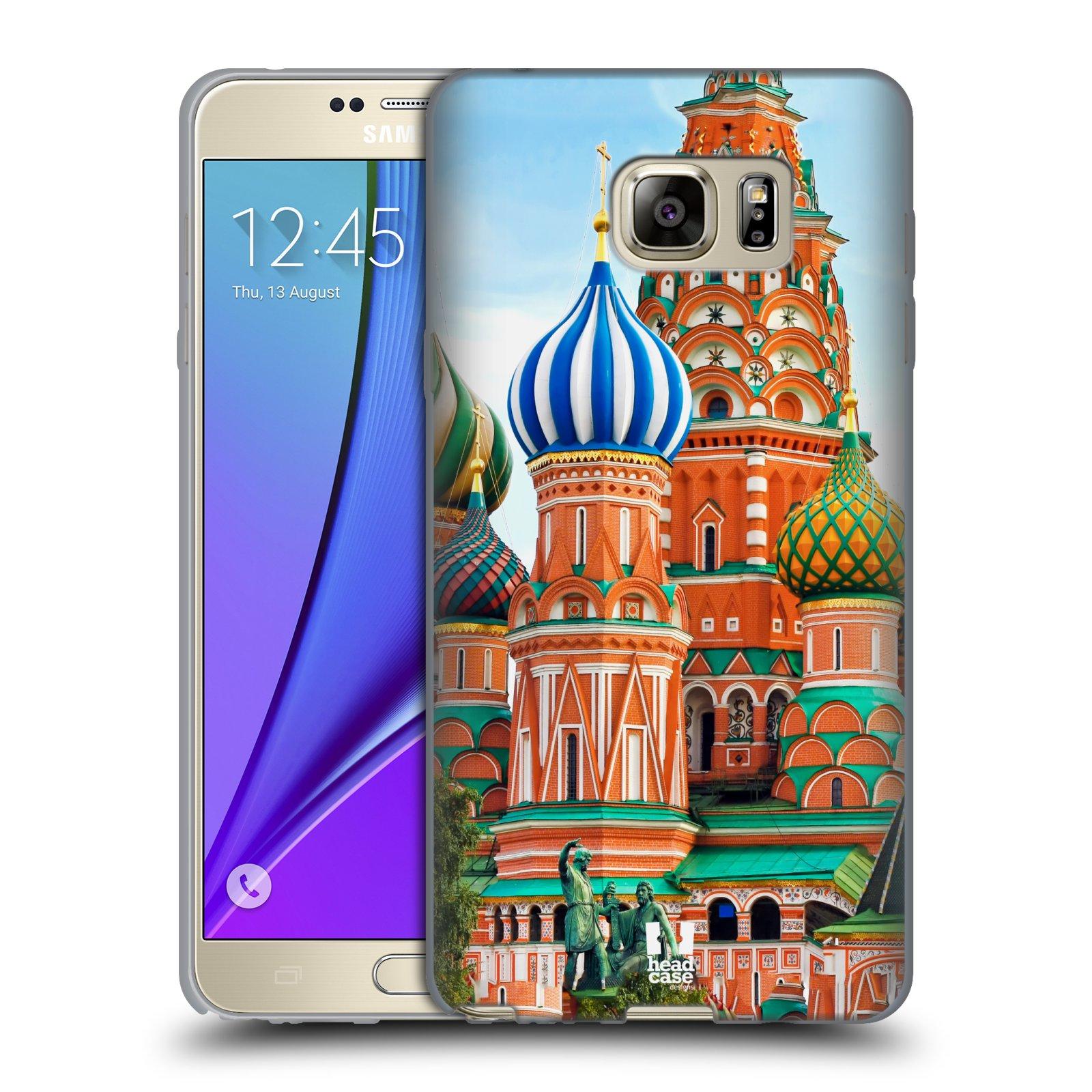 HEAD CASE silikonový obal na mobil Samsung Galaxy Note 5 (N920) vzor Města foto náměstí RUSKO,MOSKVA, RUDÉ NÁMĚSTÍ