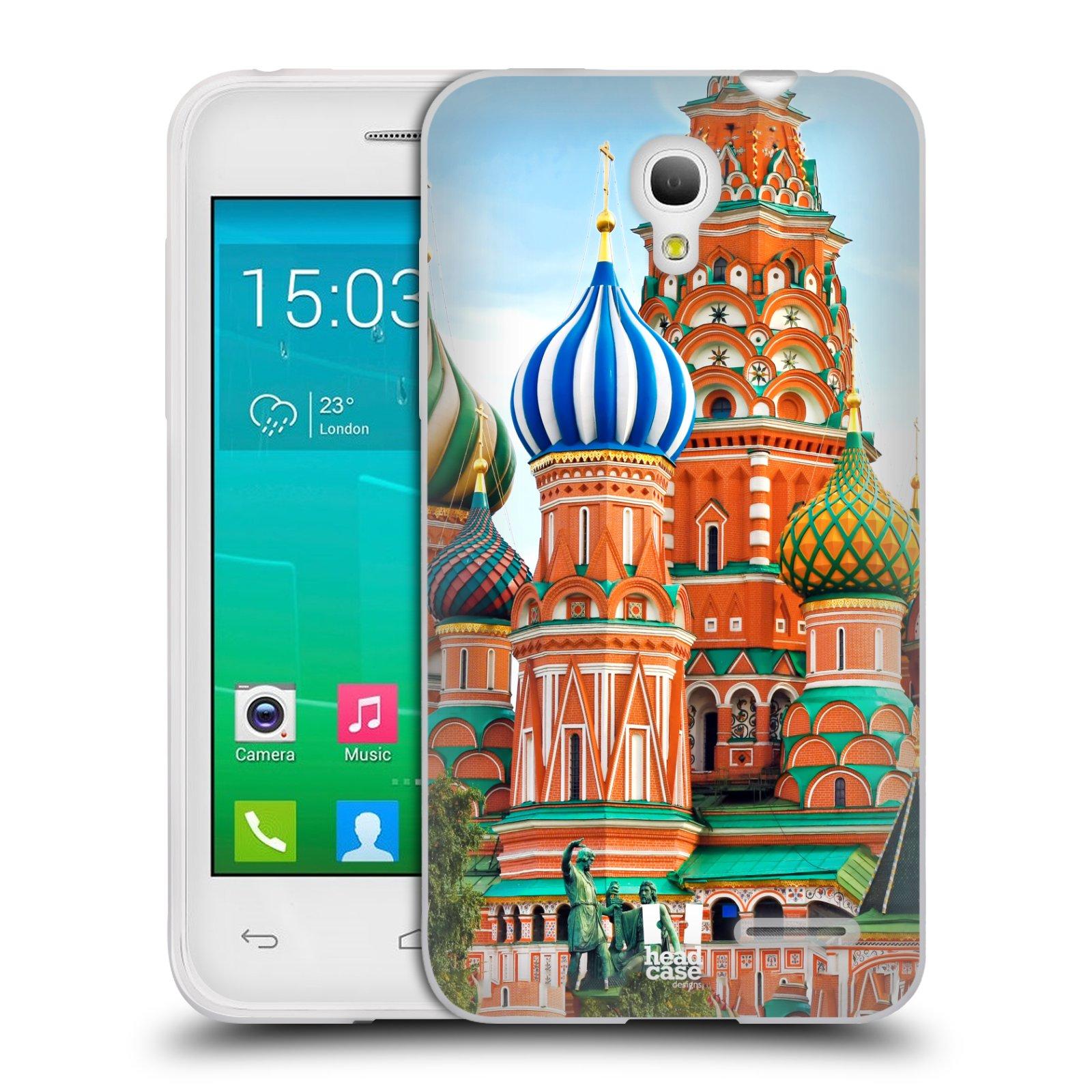 HEAD CASE silikonový obal na mobil Alcatel POP S3 OT-5050Y vzor Města foto náměstí RUSKO,MOSKVA, RUDÉ NÁMĚSTÍ