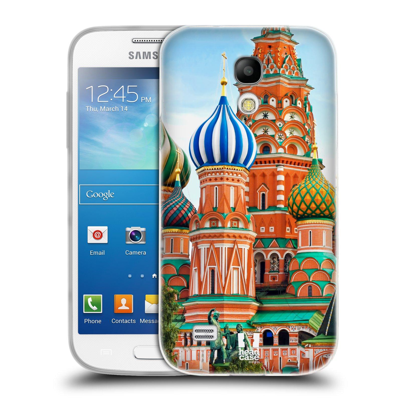 HEAD CASE silikonový obal na mobil Samsung Galaxy S4 MINI vzor Města foto náměstí RUSKO,MOSKVA, RUDÉ NÁMĚSTÍ
