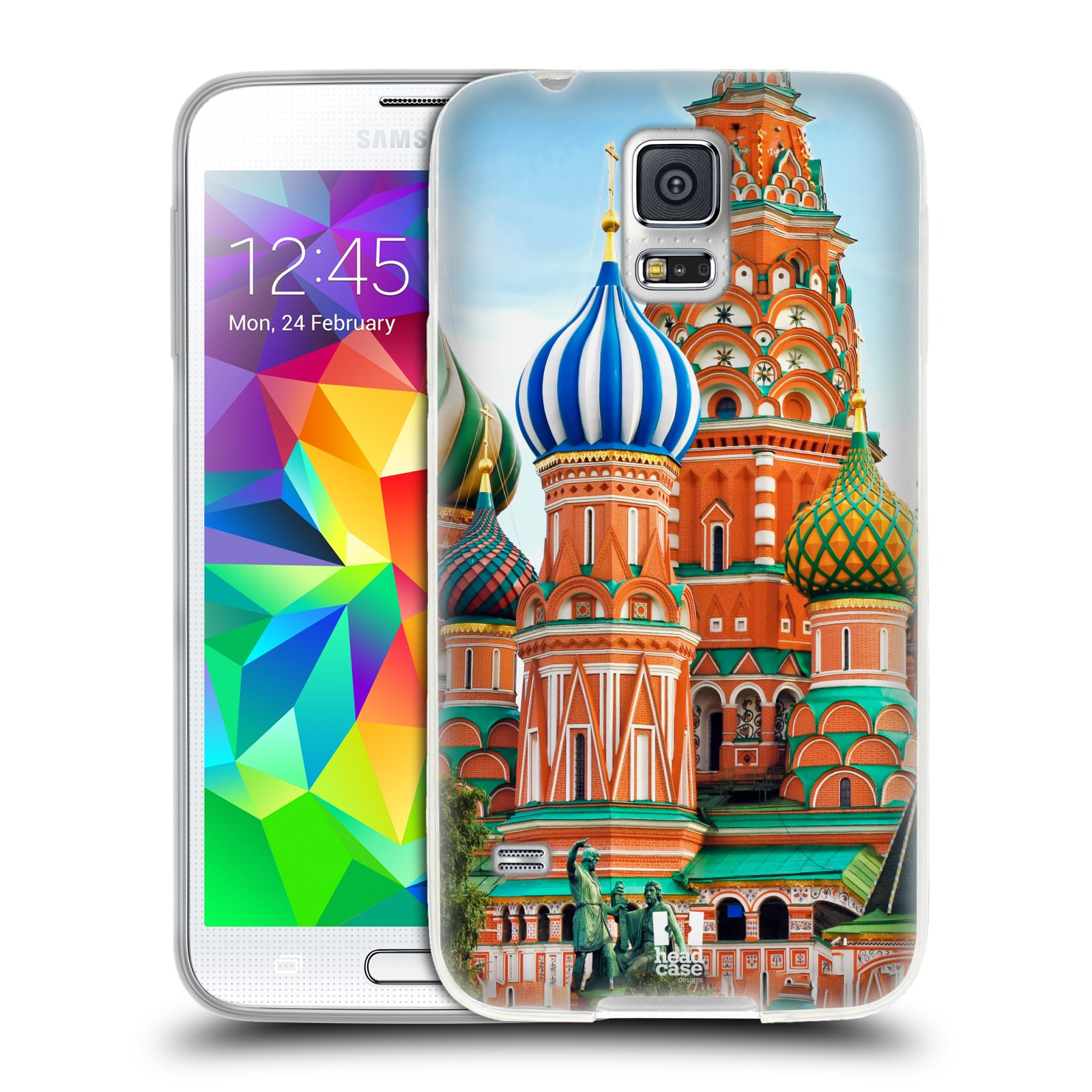 HEAD CASE silikonový obal na mobil Samsung Galaxy S5/S5 NEO vzor Města foto náměstí RUSKO,MOSKVA, RUDÉ NÁMĚSTÍ