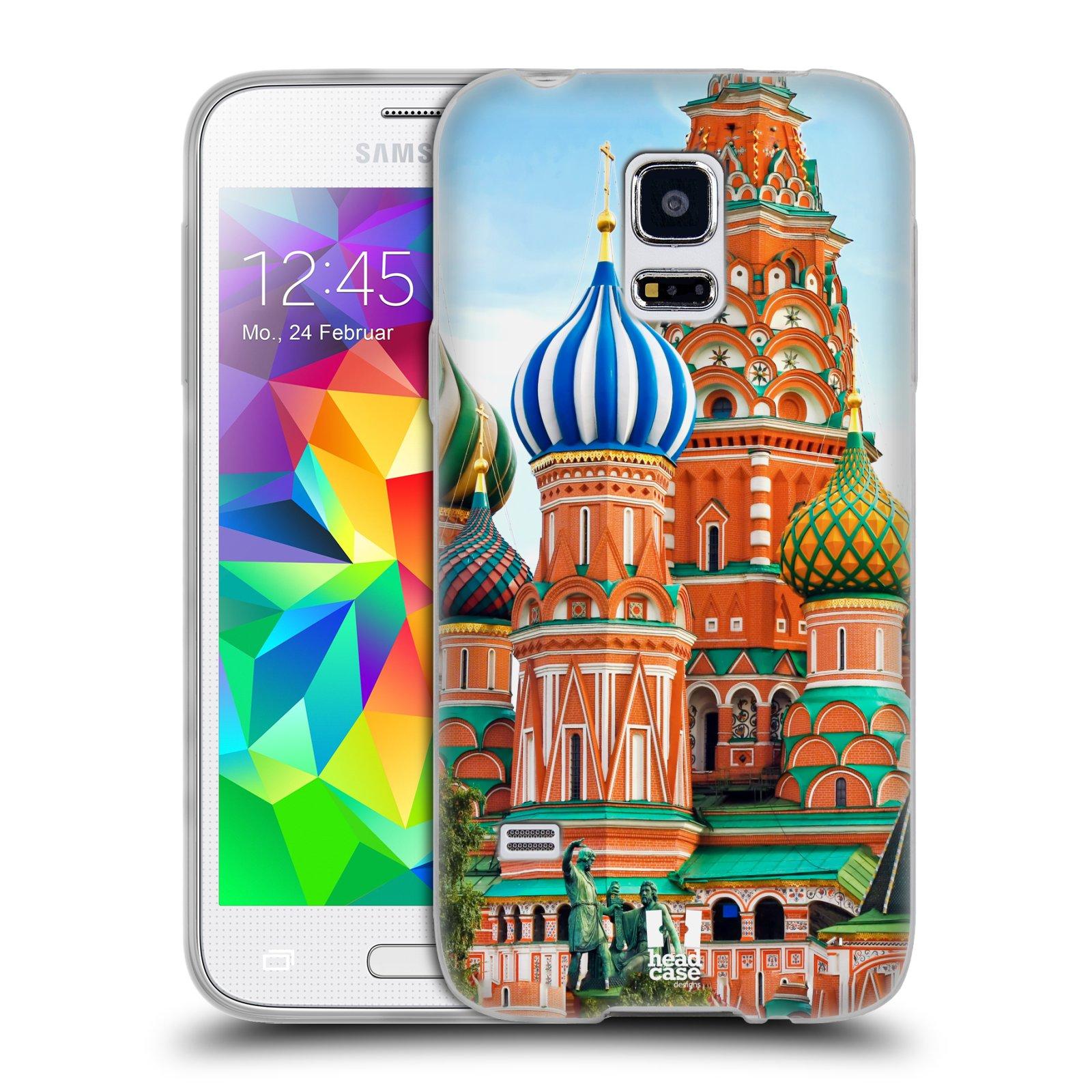 HEAD CASE silikonový obal na mobil Samsung Galaxy S5 MINI vzor Města foto náměstí RUSKO,MOSKVA, RUDÉ NÁMĚSTÍ