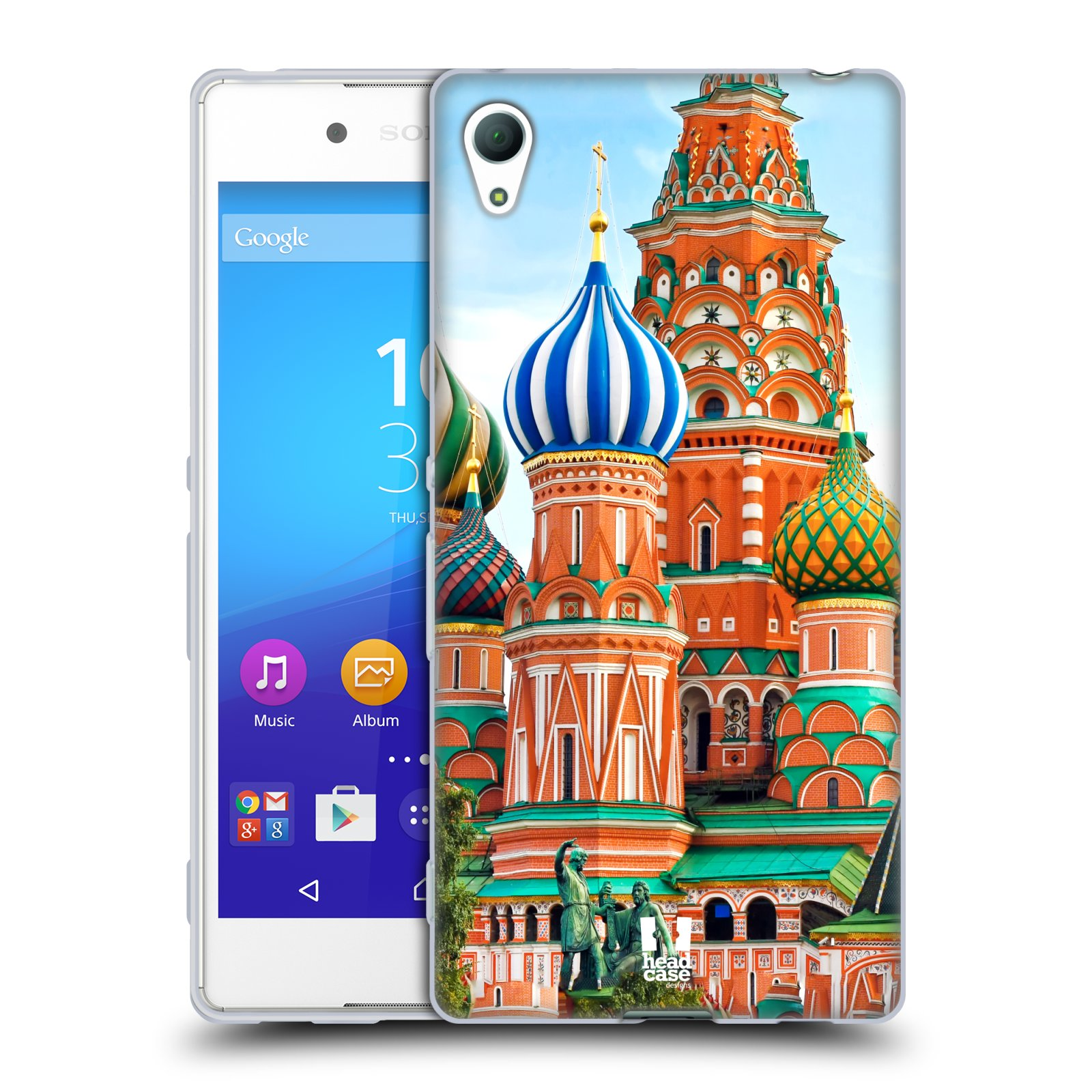 HEAD CASE silikonový obal na mobil Sony Xperia Z3 + (PLUS) vzor Města foto náměstí RUSKO,MOSKVA, RUDÉ NÁMĚSTÍ