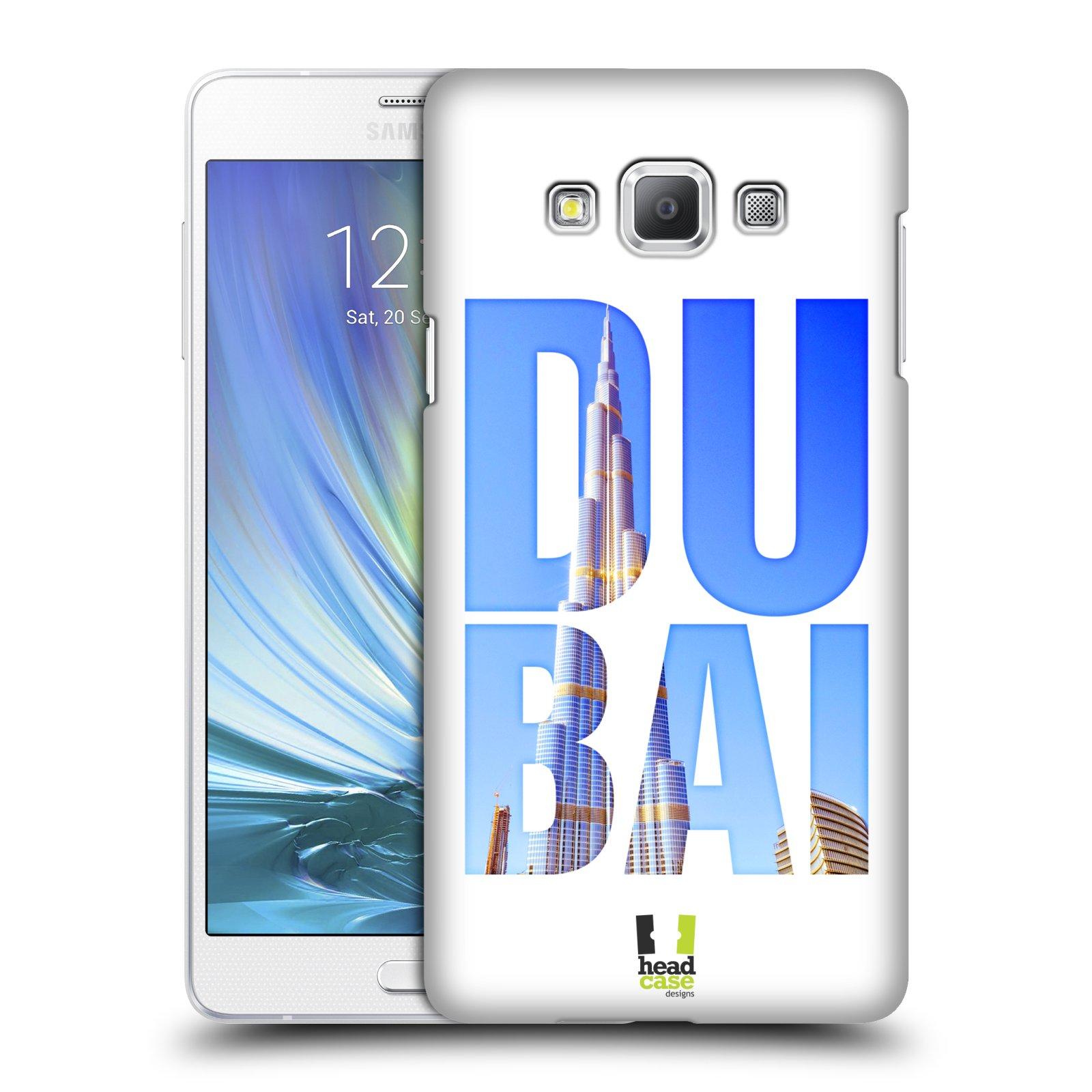 HEAD CASE plastový obal na mobil SAMSUNG GALAXY A7 vzor Města foto a nadpis ARABSKÉ EMIRÁTY, DUBAI, BURJ KHALIFA