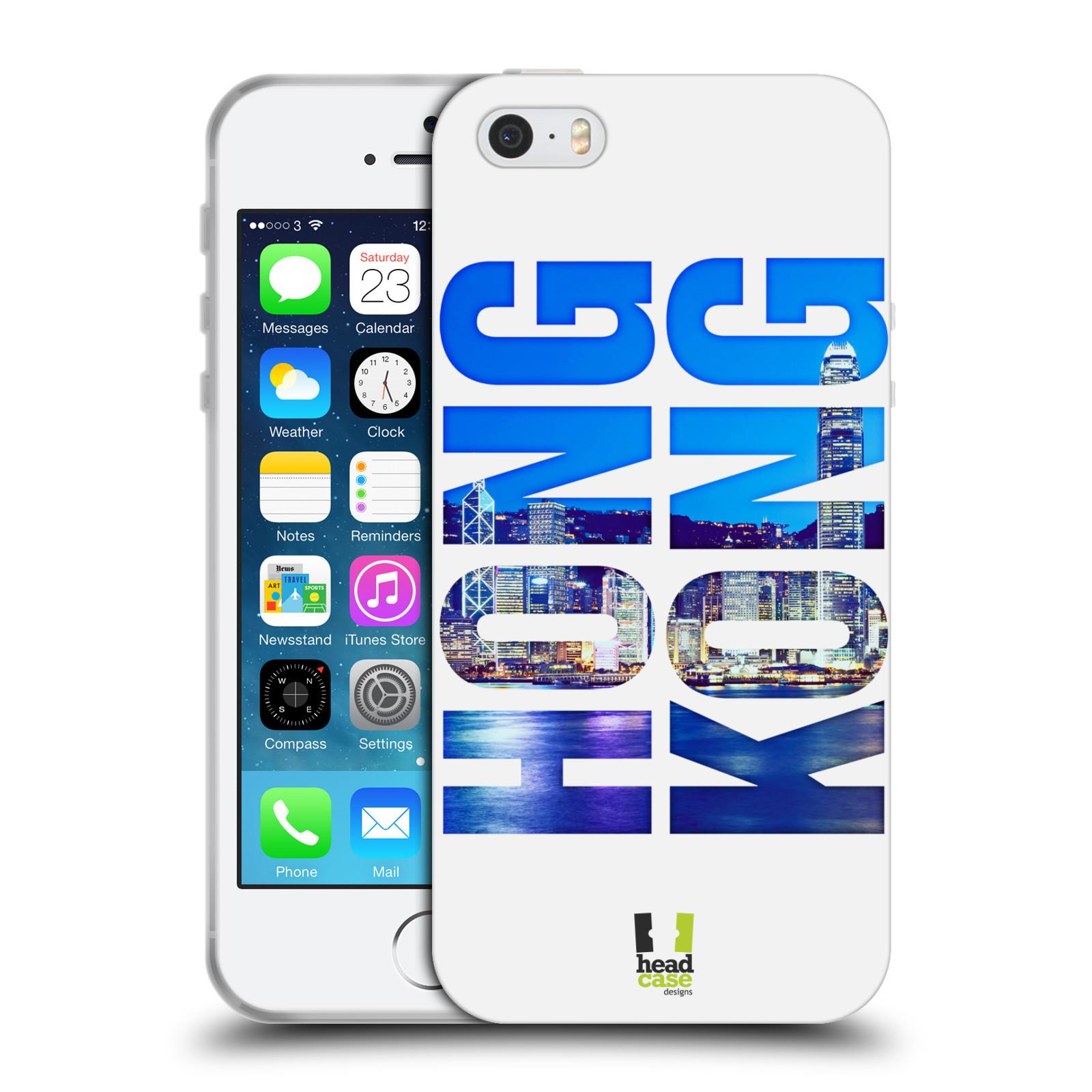HEAD CASE silikonový obal na mobil Apple Iphone 5/5S vzor Města foto a nadpis ČÍNA, HONG KONG, MĚSTO