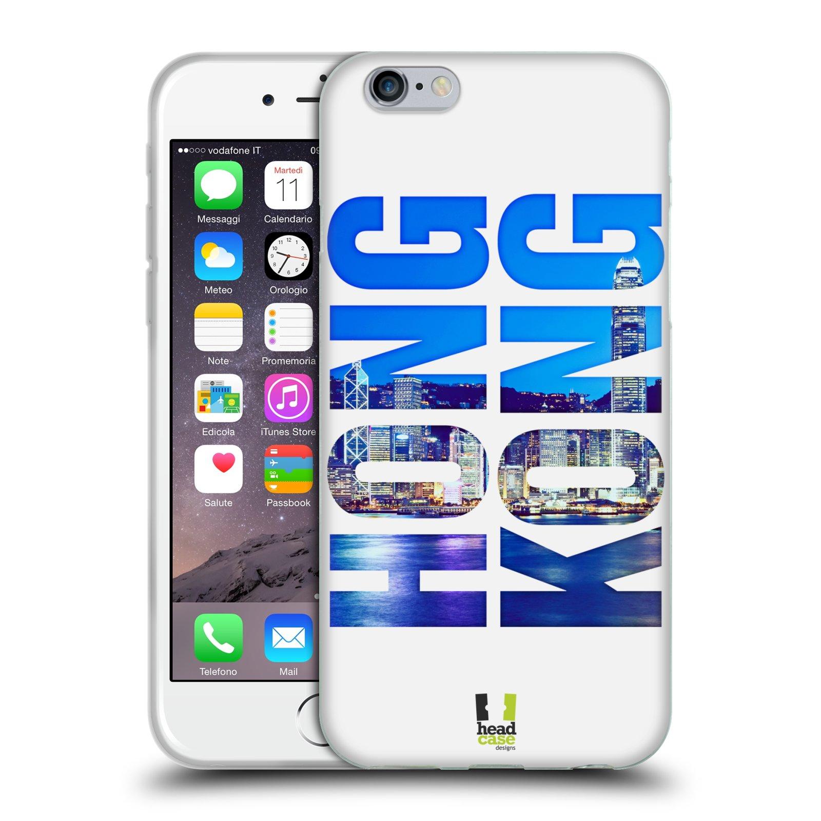 HEAD CASE silikonový obal na mobil Apple Iphone 6/6S vzor Města foto a nadpis ČÍNA, HONG KONG, MĚSTO
