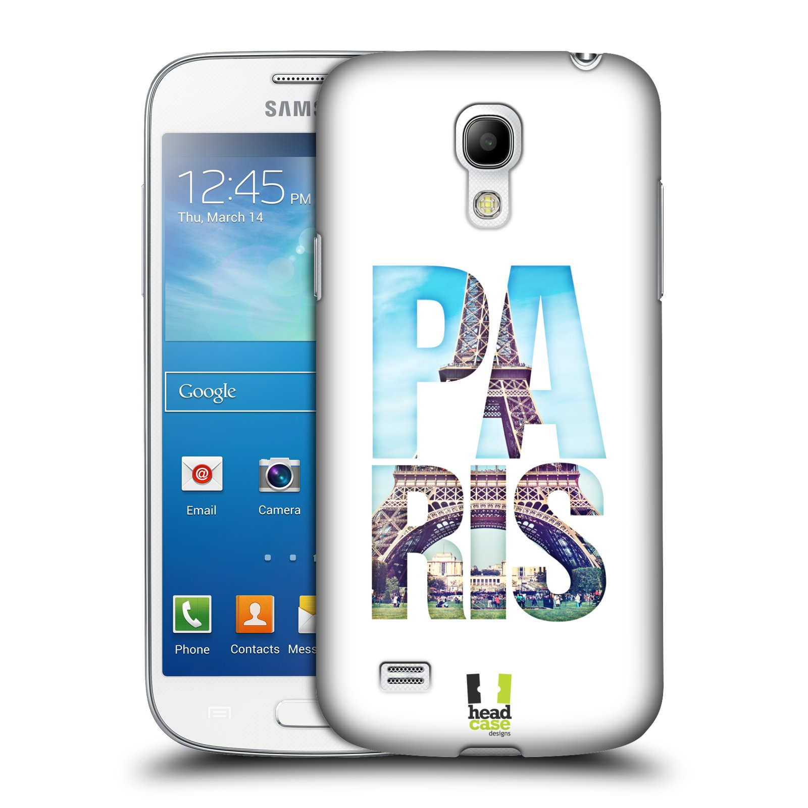 HEAD CASE plastový obal na mobil SAMSUNG Galaxy S4 MINI / S4 MINI VE (i9190, i9195i, i9195) vzor Města foto a nadpis FRANCIE, PAŘÍŽ, EIFFELOVA VĚŽ