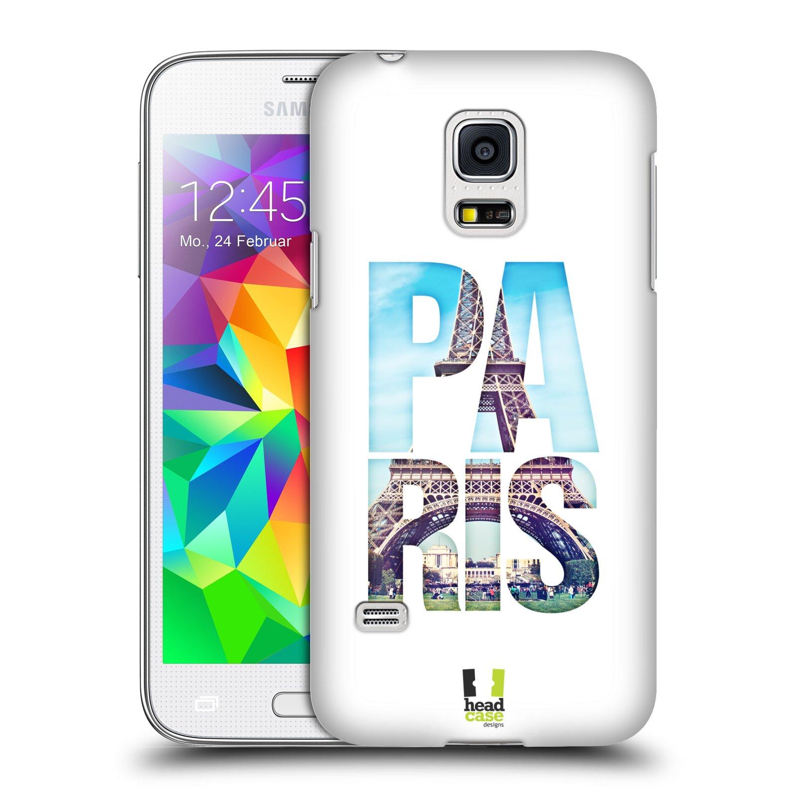 HEAD CASE plastový obal na mobil SAMSUNG Galaxy S5 MINI / S5 MINI DUOS vzor Města foto a nadpis FRANCIE, PAŘÍŽ, EIFFELOVA VĚŽ