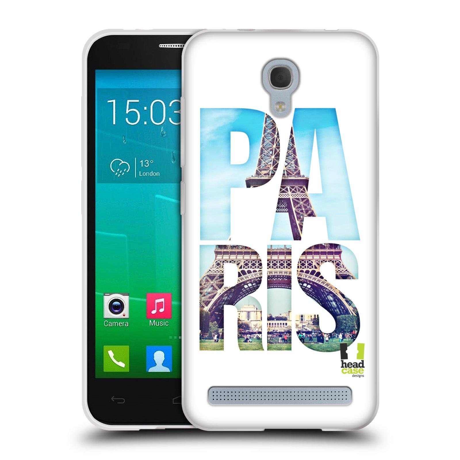 HEAD CASE silikonový obal na mobil Alcatel Idol 2 MINI S 6036Y vzor Města foto a nadpis FRANCIE, PAŘÍŽ, EIFFELOVA VĚŽ