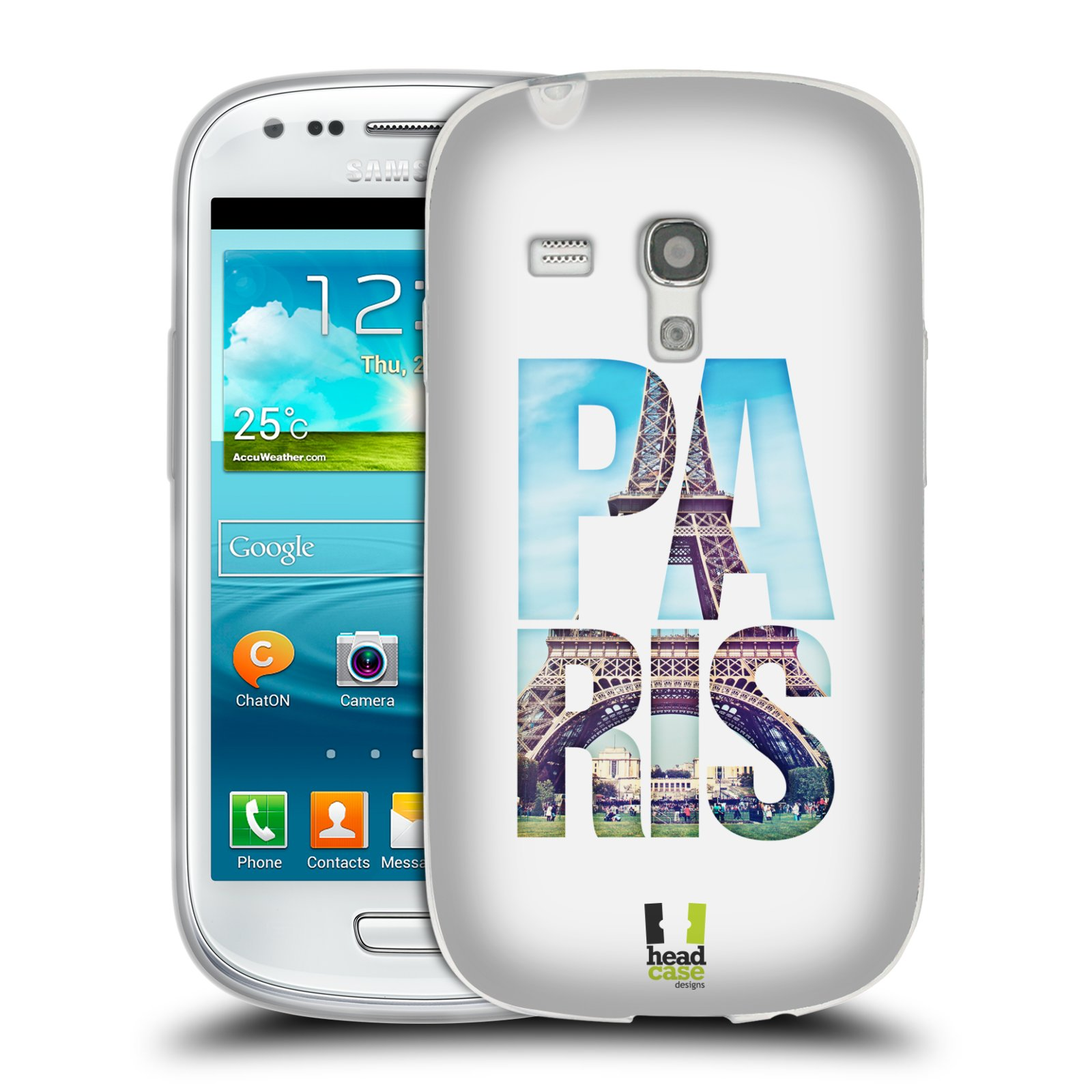 HEAD CASE silikonový obal na mobil Samsung Galaxy S3 MINI i8190 vzor Města foto a nadpis FRANCIE, PAŘÍŽ, EIFFELOVA VĚŽ