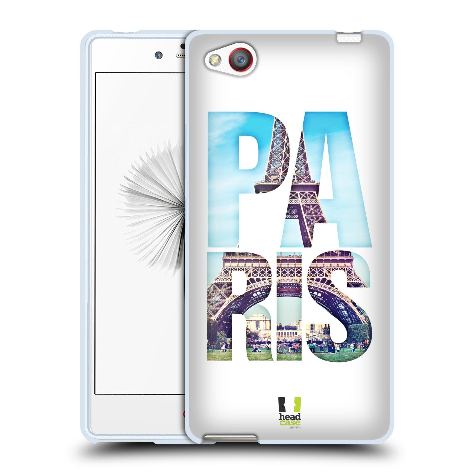 HEAD CASE silikonový obal na mobil ZTE NUBIA Z9 MINI vzor Města foto a nadpis FRANCIE, PAŘÍŽ, EIFFELOVA VĚŽ