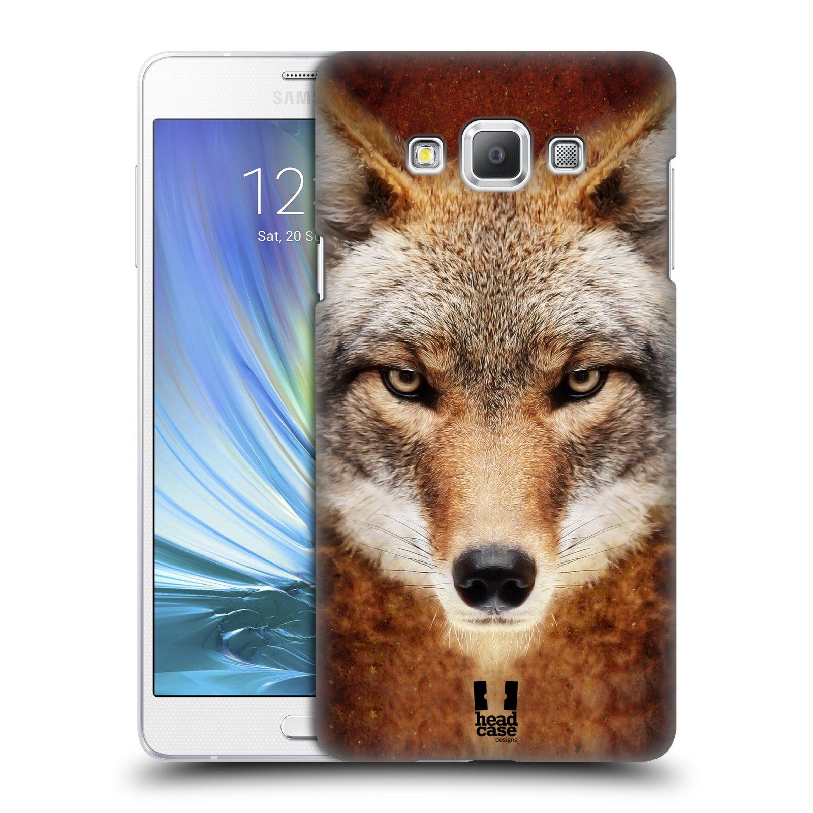 HEAD CASE plastový obal na mobil SAMSUNG GALAXY A7 vzor Zvířecí tváře kojot