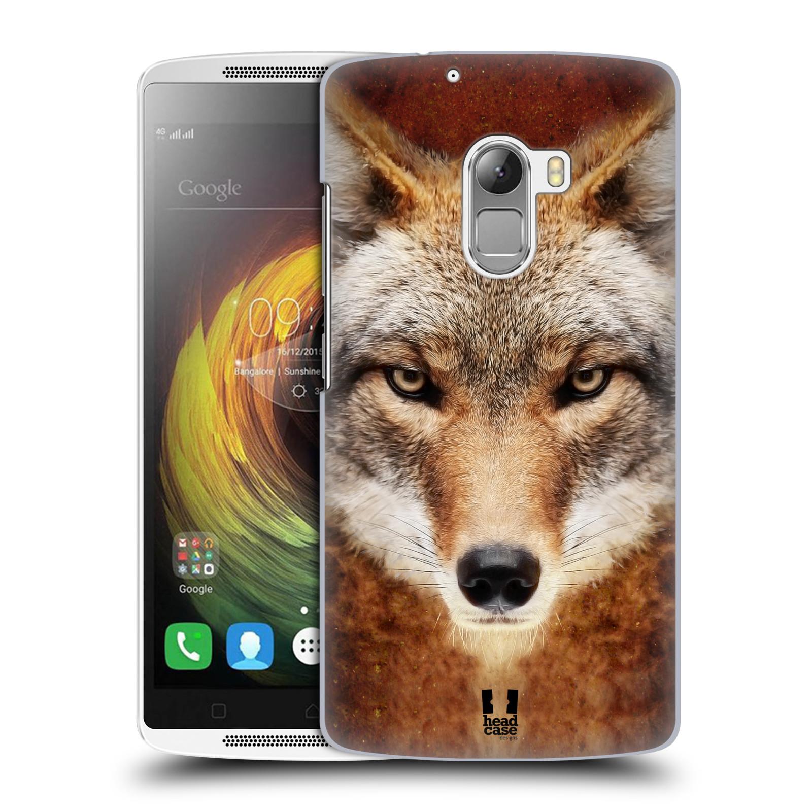 HEAD CASE pevný plastový obal na mobil LENOVO A7010 / A7010 DUAL / K4 Note / Vibe X3 lite vzor Zvířecí tváře kojot