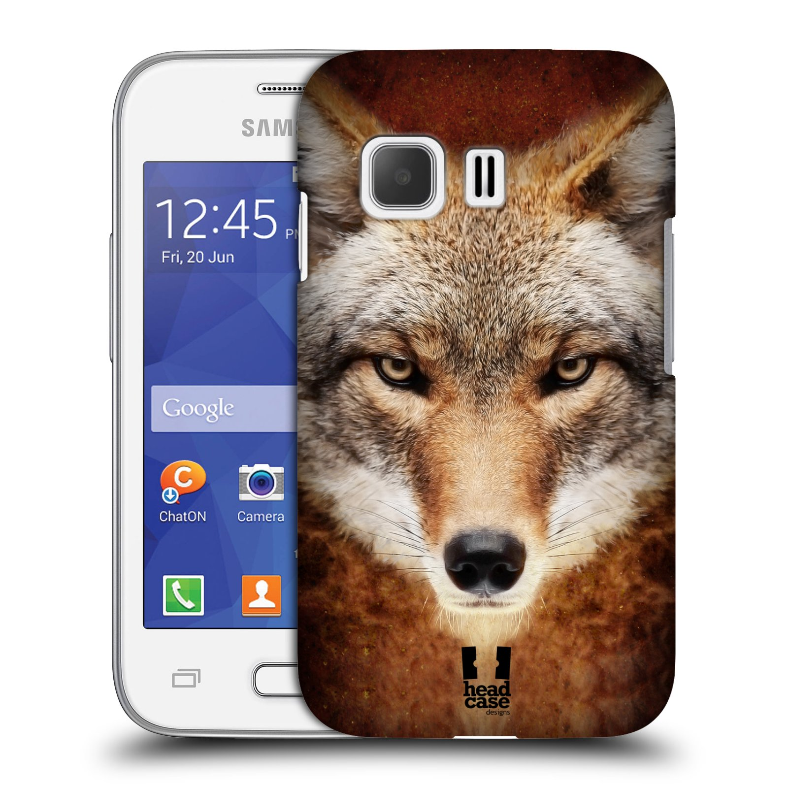 HEAD CASE plastový obal na mobil SAMSUNG Galaxy Young 2 (G130) vzor Zvířecí tváře kojot