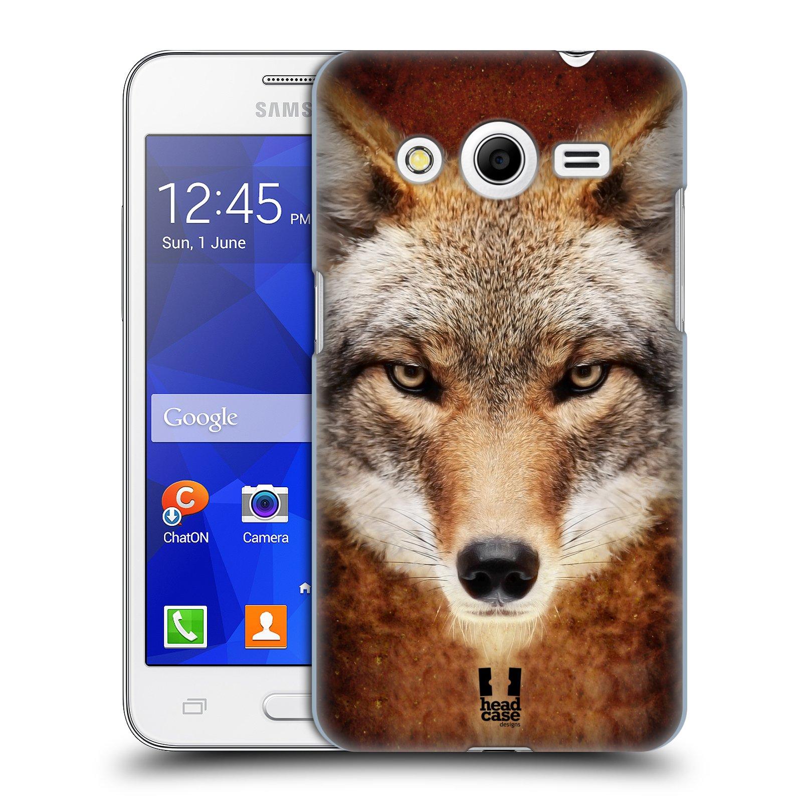 HEAD CASE plastový obal na mobil SAMSUNG GALAXY Core 2 (G355H) vzor Zvířecí tváře kojot