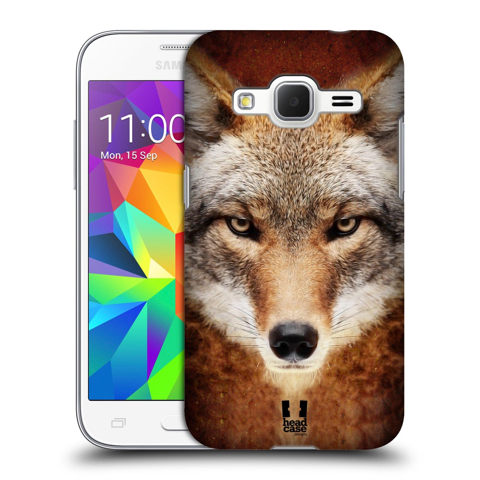 HEAD CASE plastový obal na mobil SAMSUNG GALAXY Core Prime (Core Prime VE) vzor Zvířecí tváře kojot