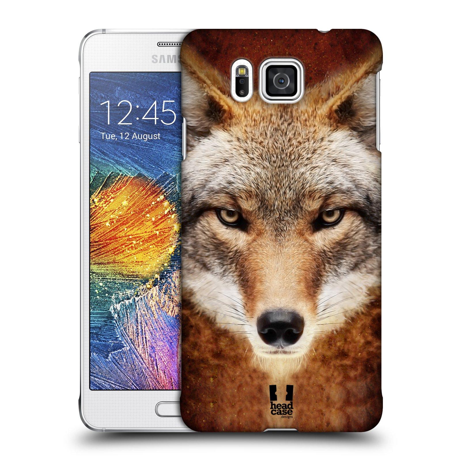 HEAD CASE plastový obal na mobil SAMSUNG Galaxy Alpha (G850) vzor Zvířecí tváře kojot