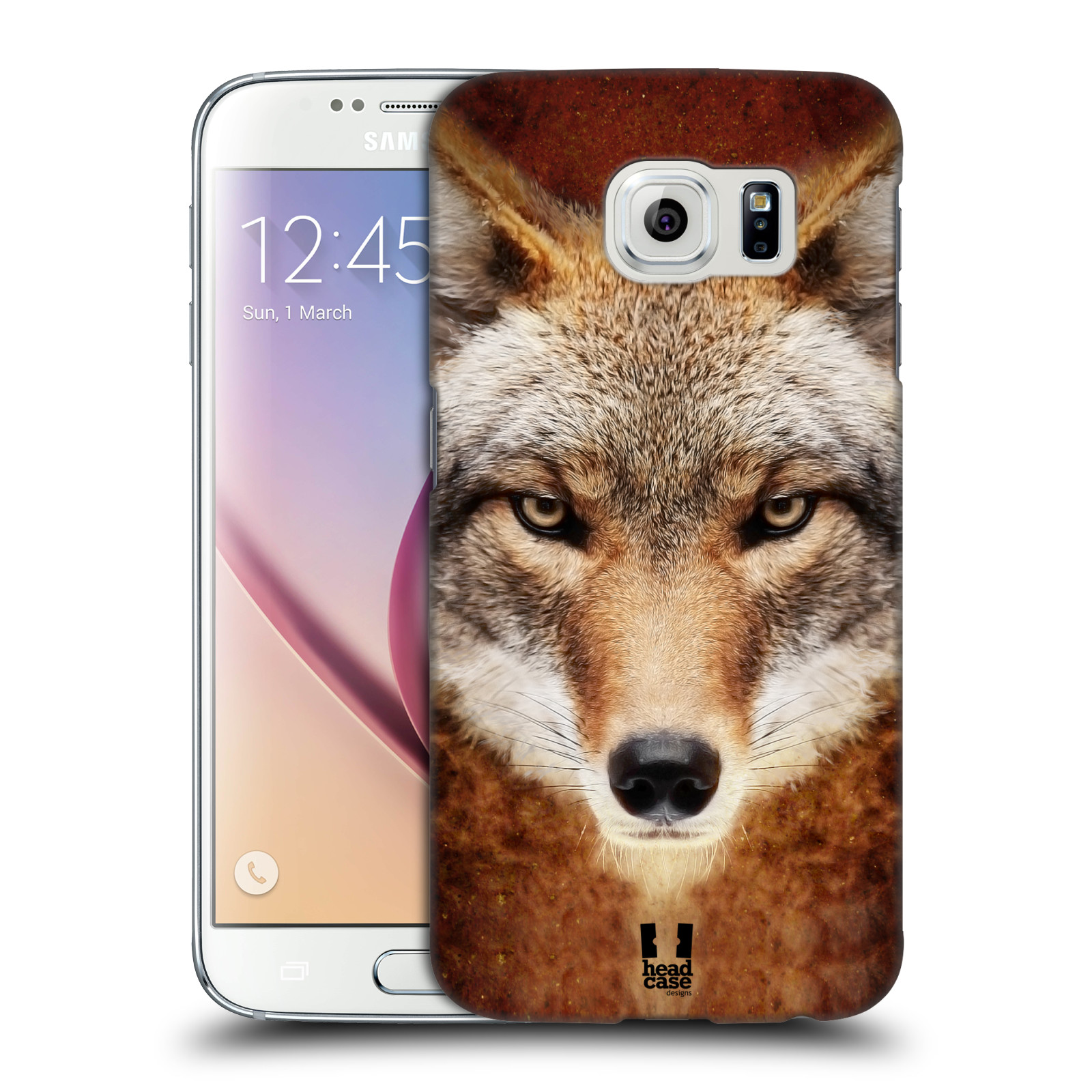 HEAD CASE plastový obal na mobil SAMSUNG Galaxy S6 (G9200, G920F) vzor Zvířecí tváře kojot