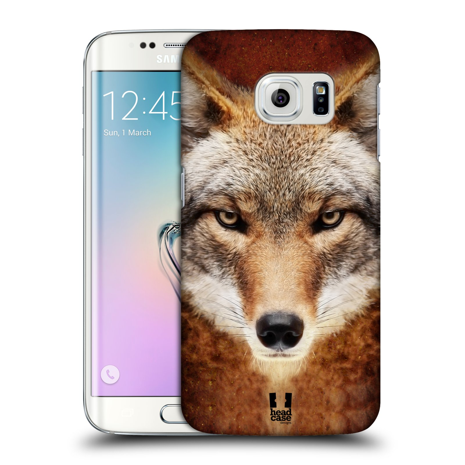 HEAD CASE plastový obal na mobil SAMSUNG Galaxy S6 EDGE (G9250, G925, G925F) vzor Zvířecí tváře kojot