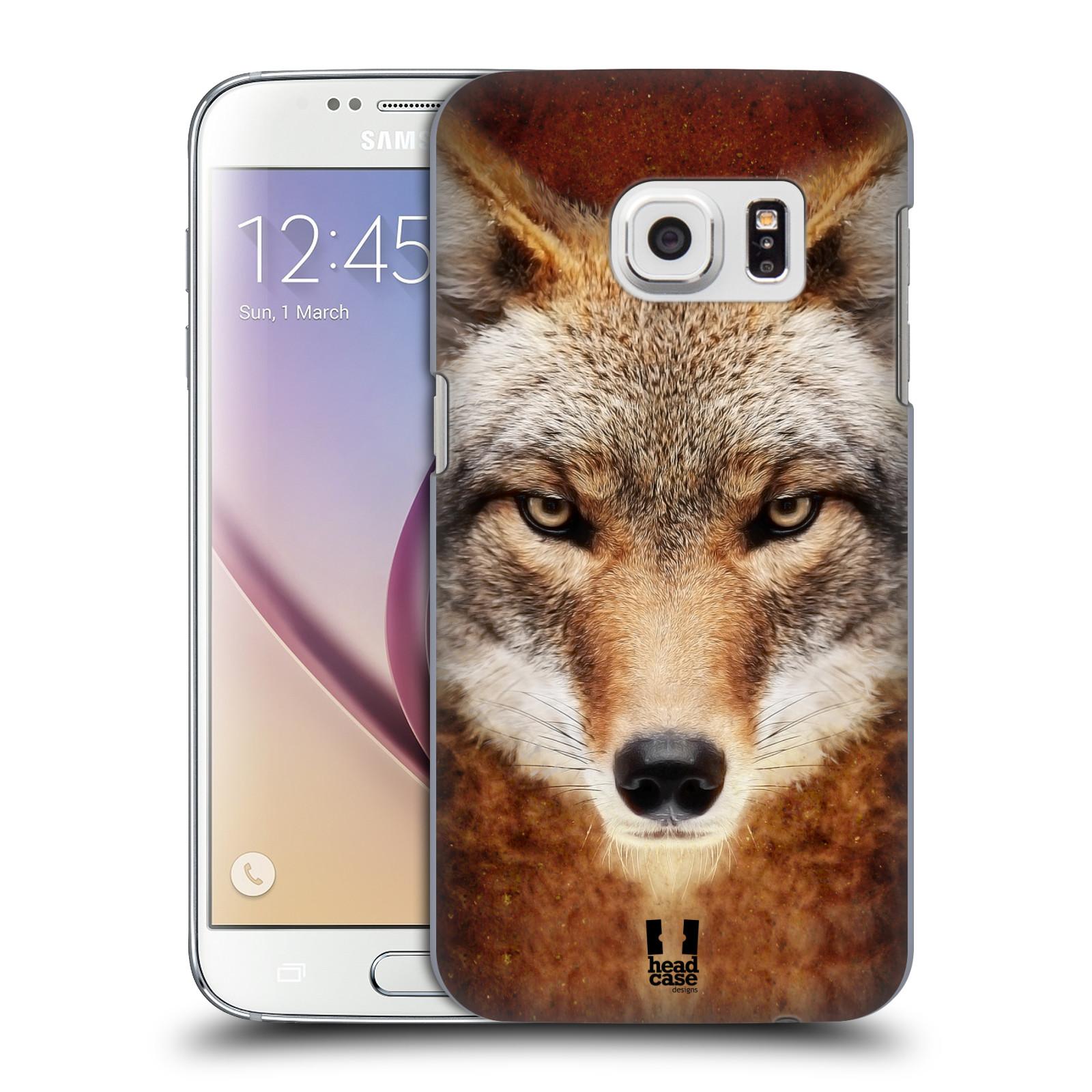 HEAD CASE plastový obal na mobil SAMSUNG GALAXY S7 vzor Zvířecí tváře kojot