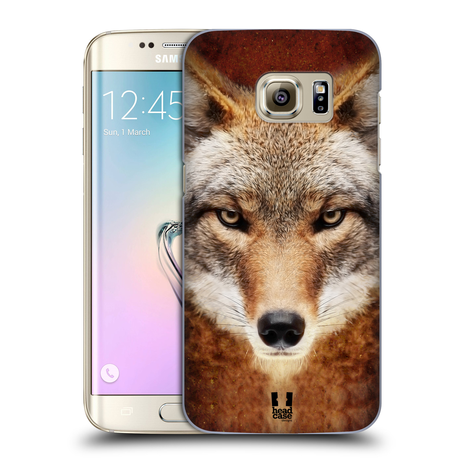 HEAD CASE plastový obal na mobil SAMSUNG GALAXY S7 EDGE vzor Zvířecí tváře kojot