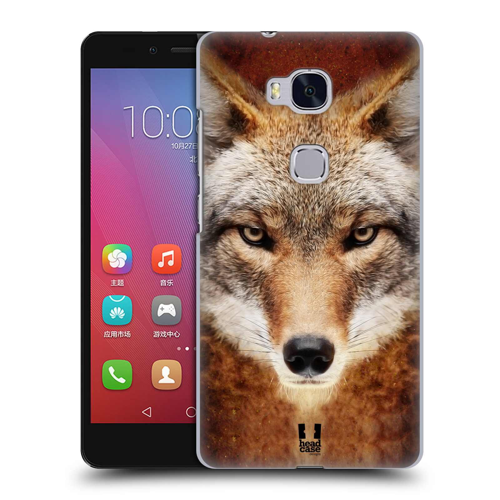HEAD CASE pevný plastový obal na mobil HUAWEI HONOR 5X vzor Zvířecí tváře kojot