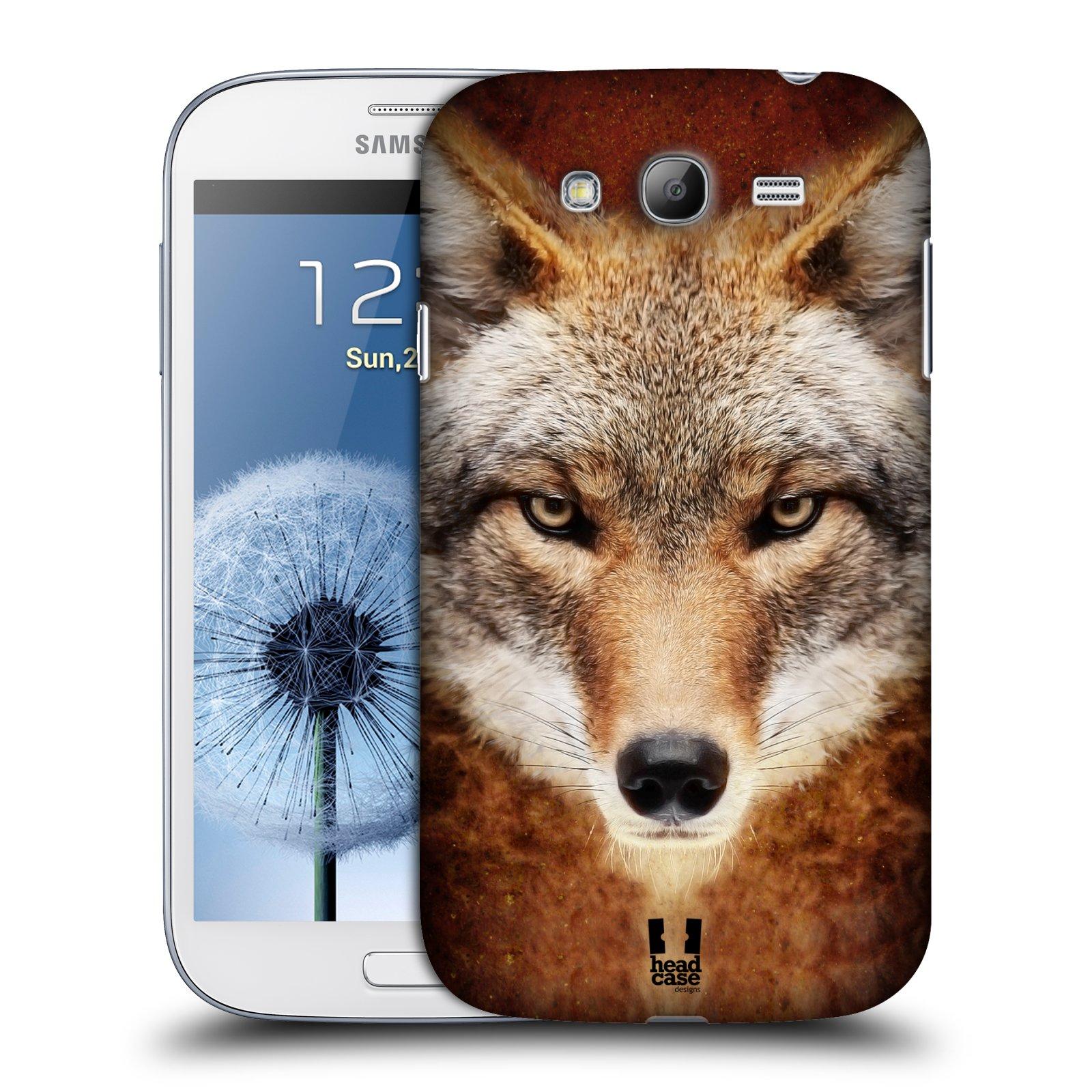 HEAD CASE plastový obal na mobil SAMSUNG GALAXY Grand i9080 vzor Zvířecí tváře kojot