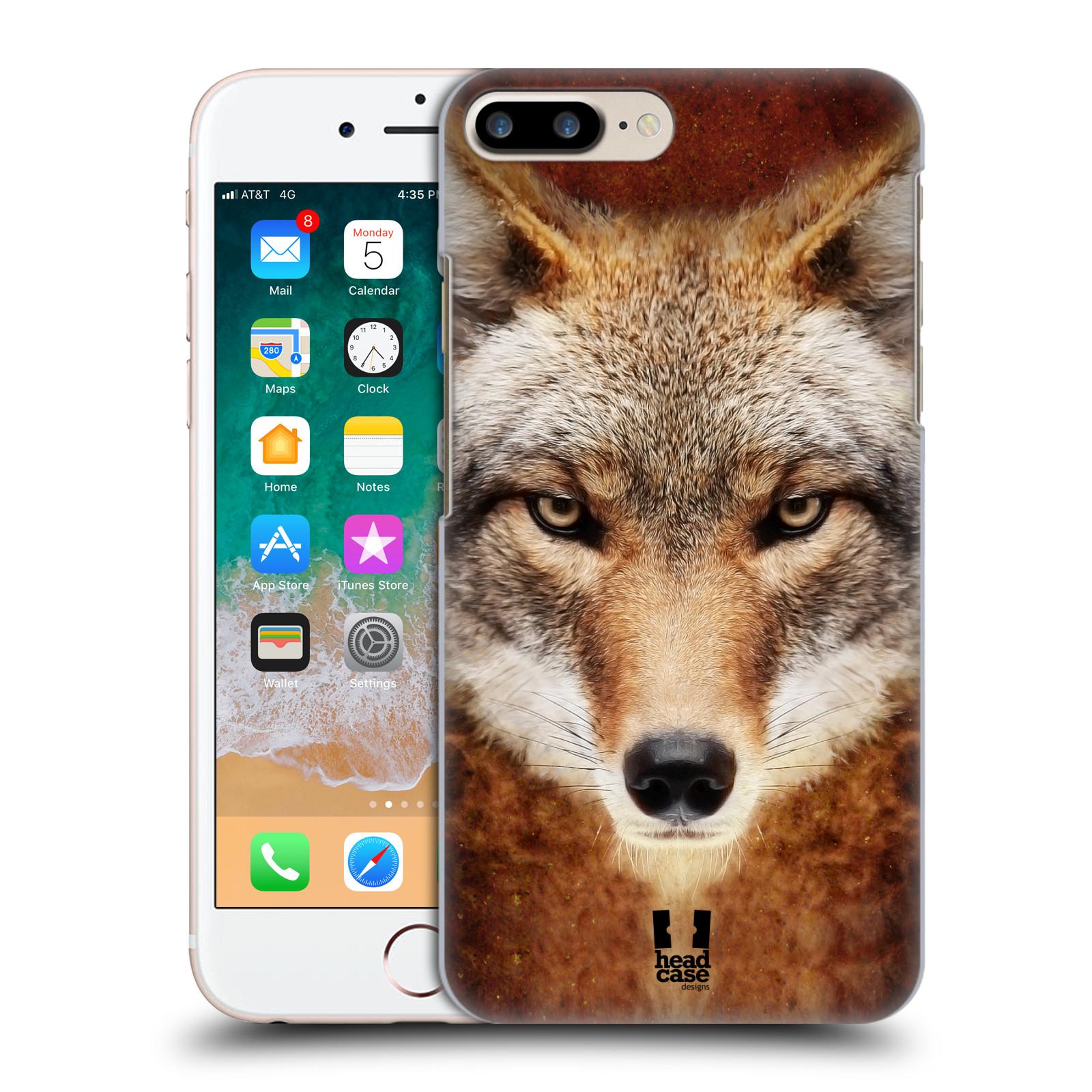 HEAD CASE plastový obal na mobil Apple Iphone 7 PLUS vzor Zvířecí tváře kojot