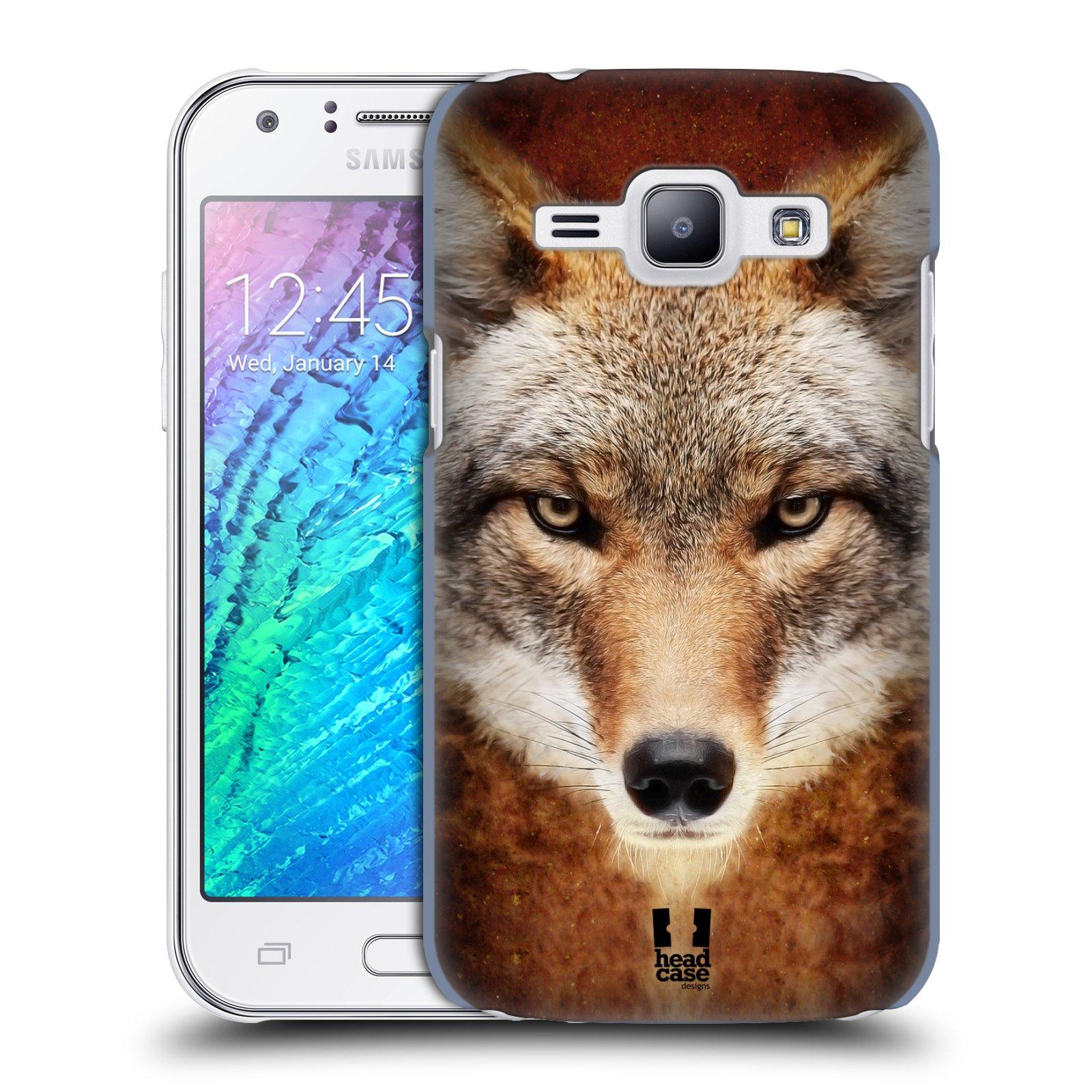 HEAD CASE plastový obal na mobil SAMSUNG Galaxy J1, J100 vzor Zvířecí tváře kojot