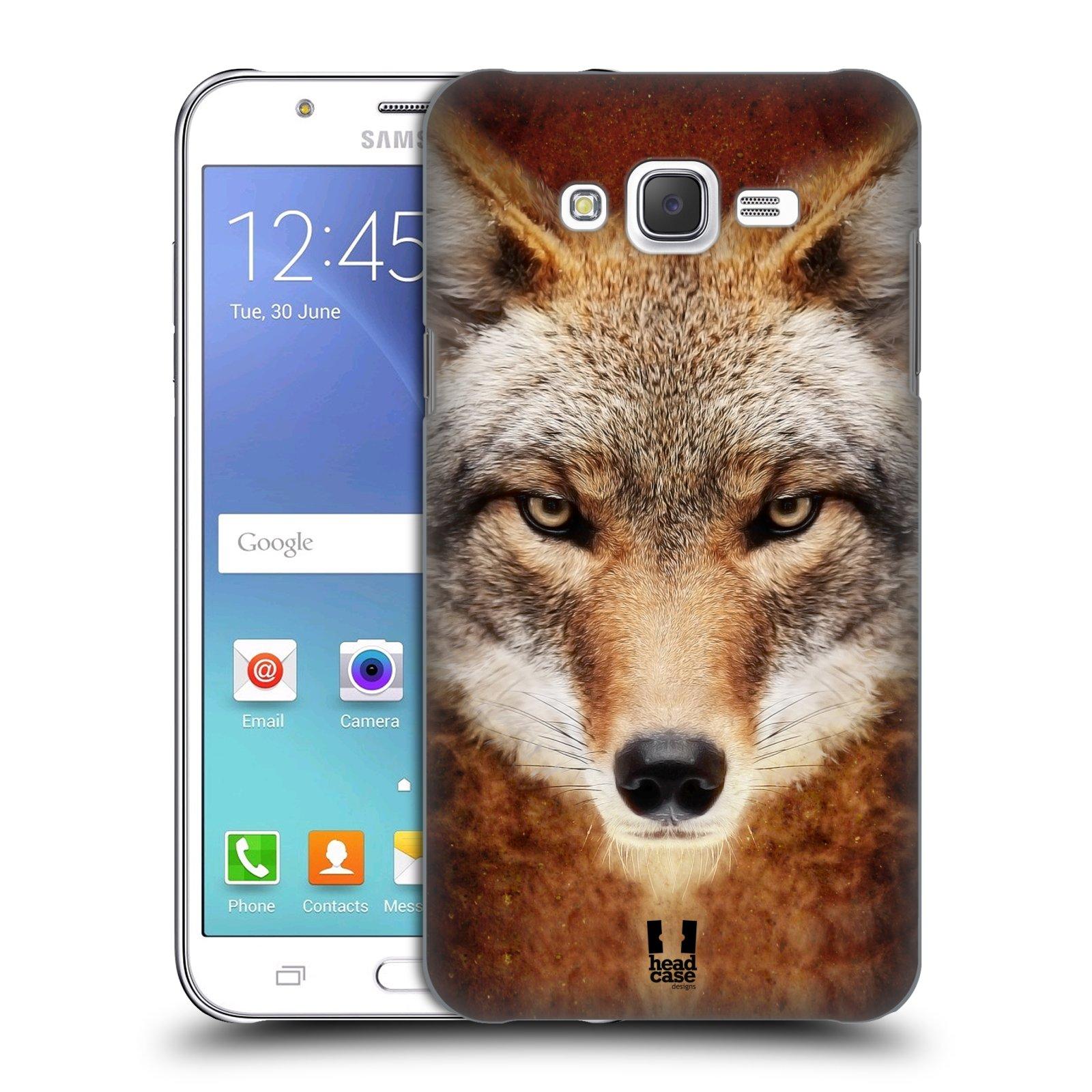 HEAD CASE plastový obal na mobil SAMSUNG Galaxy J7, J700 vzor Zvířecí tváře kojot