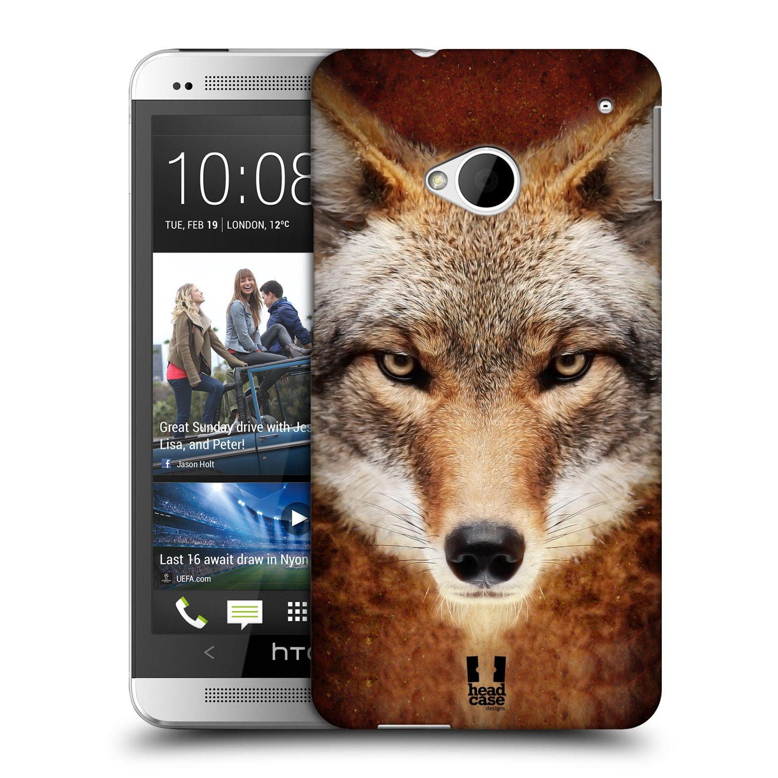 HEAD CASE plastový obal na mobil HTC One (M7) vzor Zvířecí tváře kojot