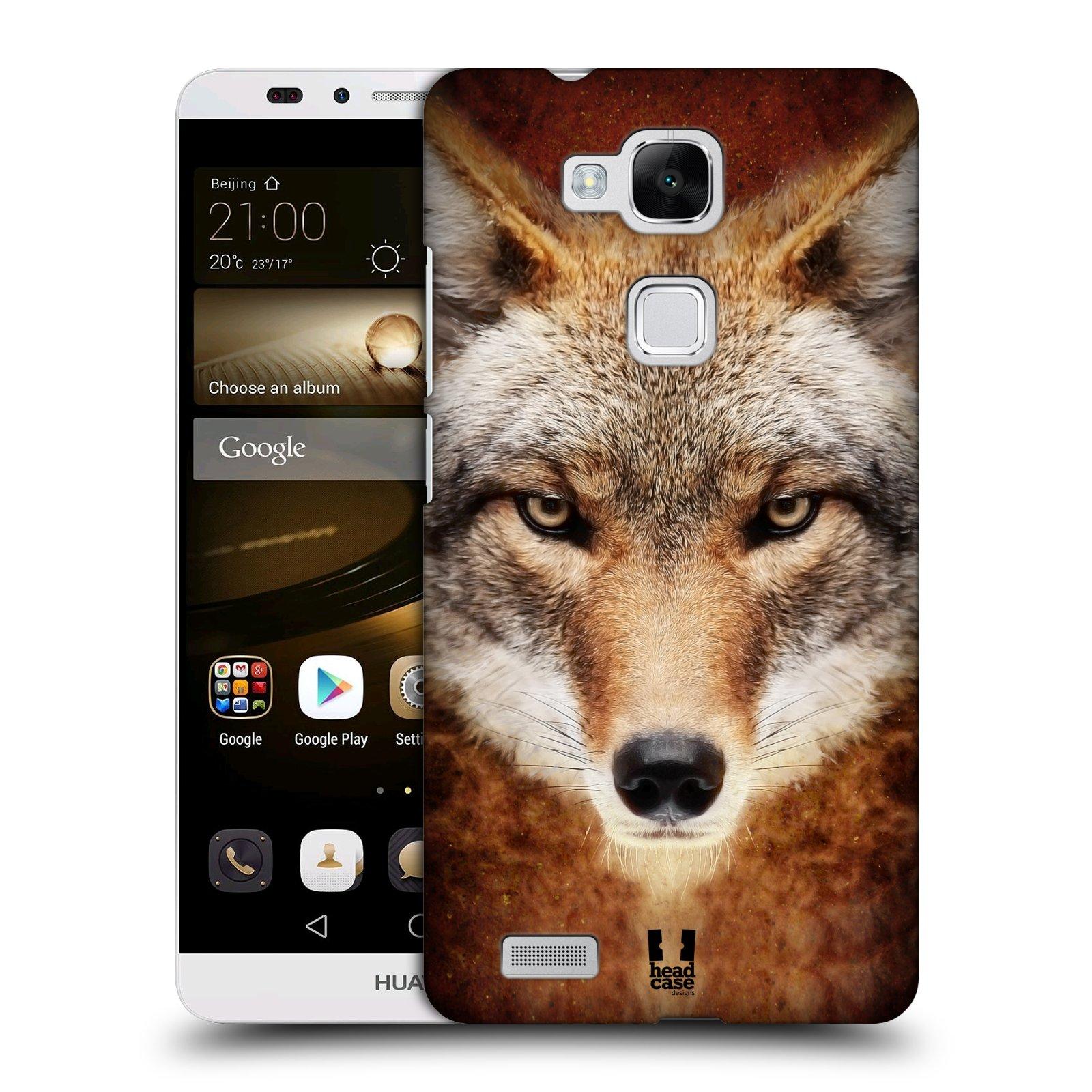 HEAD CASE plastový obal na mobil Huawei Mate 7 vzor Zvířecí tváře kojot