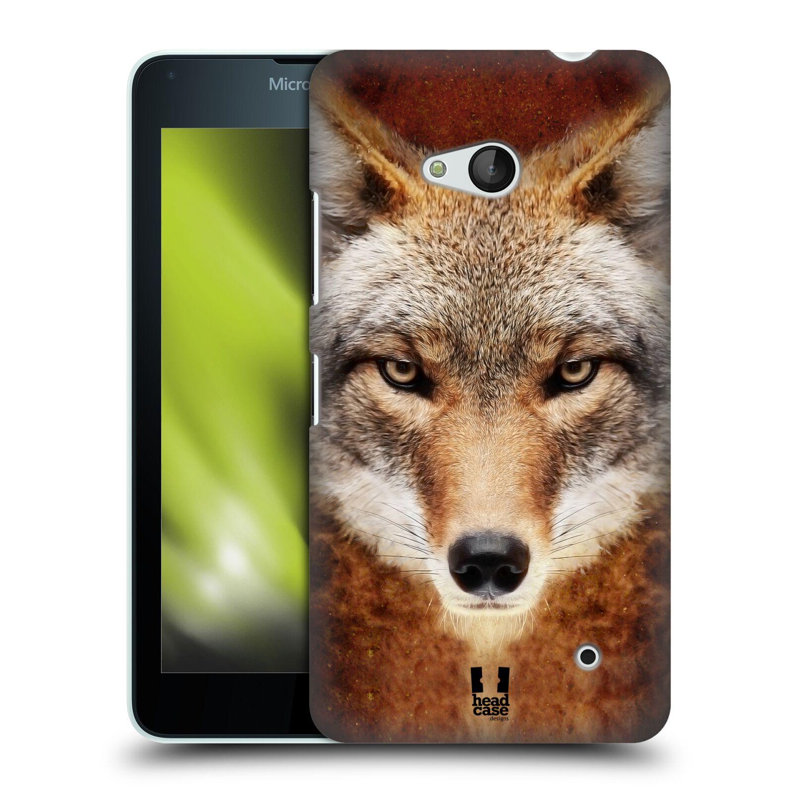 HEAD CASE plastový obal na mobil Nokia Lumia 640 vzor Zvířecí tváře kojot