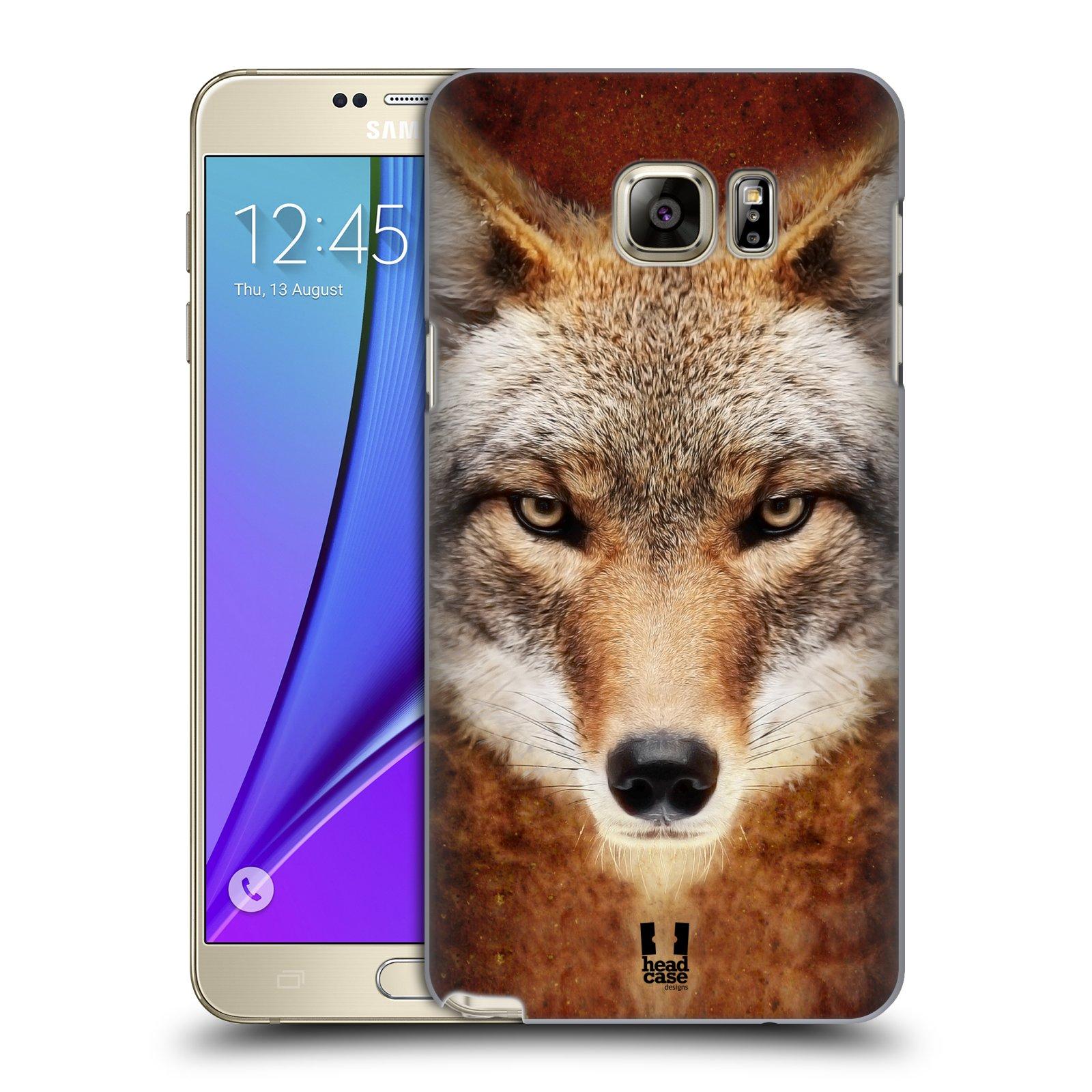 HEAD CASE plastový obal na mobil SAMSUNG Galaxy Note 5 (N920) vzor Zvířecí tváře kojot