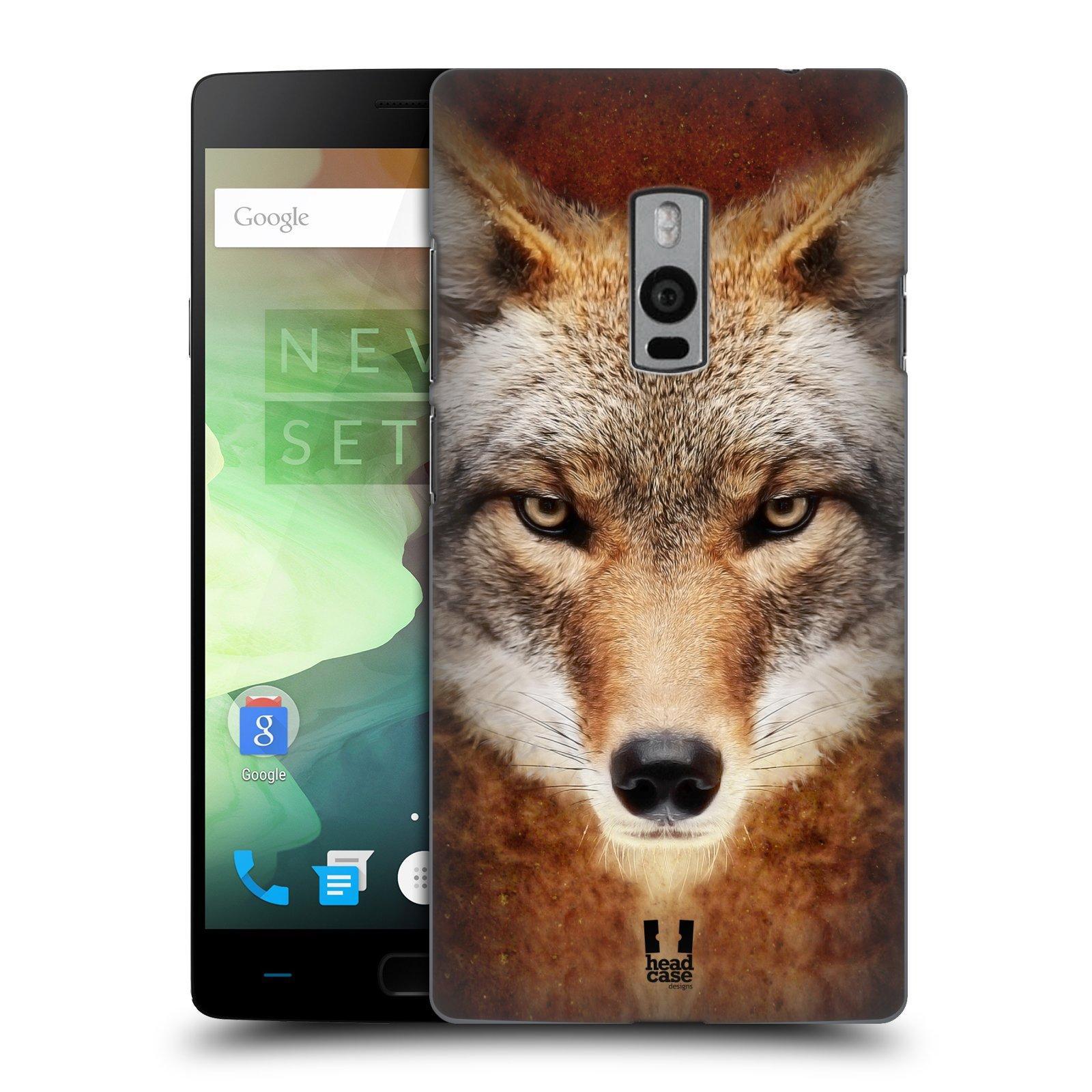 HEAD CASE pevný plastový obal na mobil OnePlus 2  ( TWO ) vzor Zvířecí tváře kojot