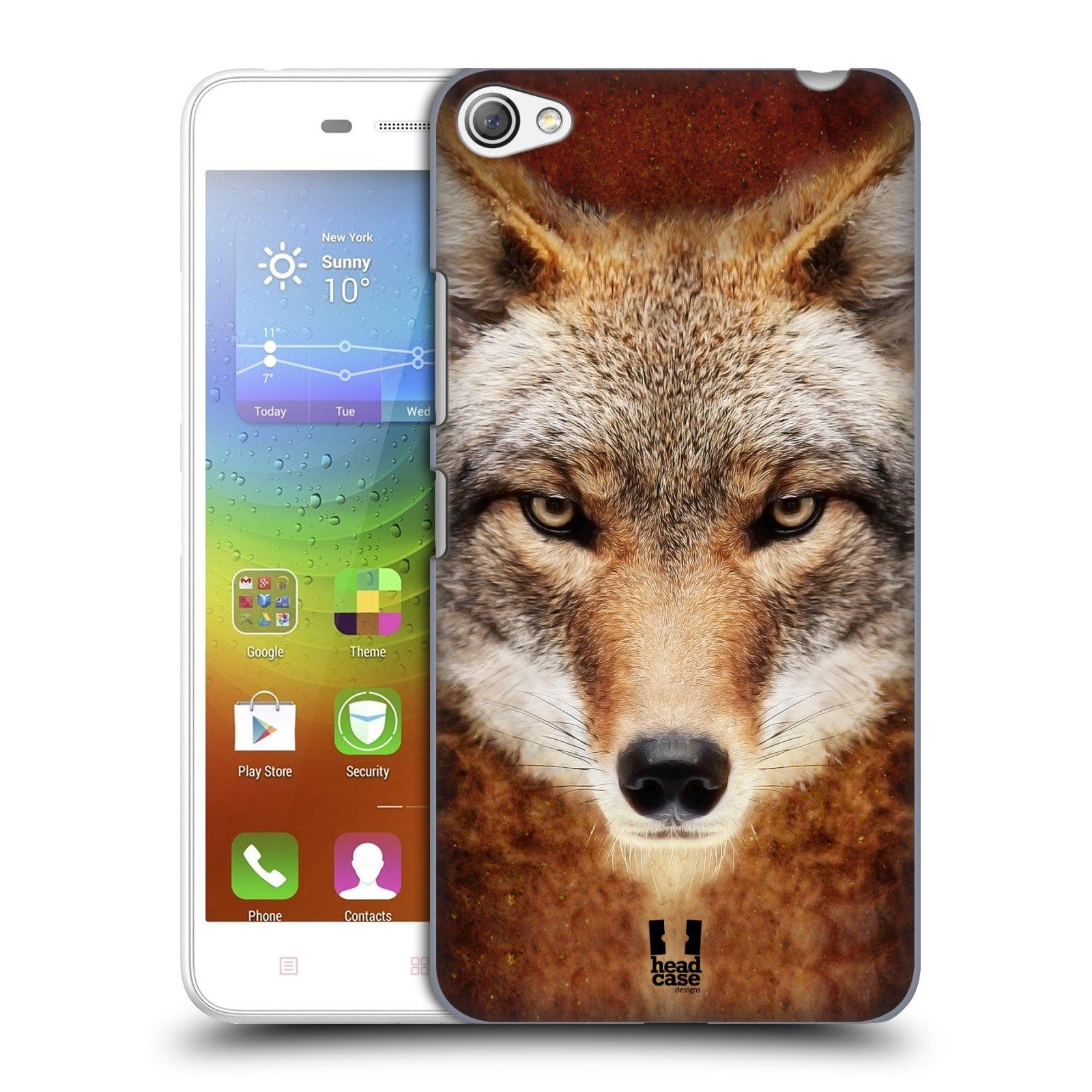 HEAD CASE pevný plastový obal na mobil LENOVO S60 / LENOVO S60 DUAL SIM vzor Zvířecí tváře kojot