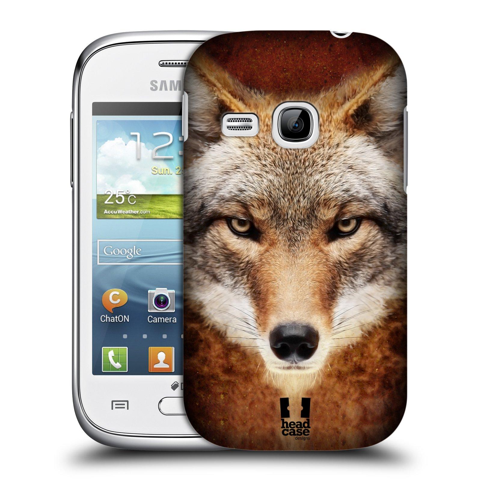 HEAD CASE plastový obal na mobil SAMSUNG Galaxy Young S6310 vzor Zvířecí tváře kojot